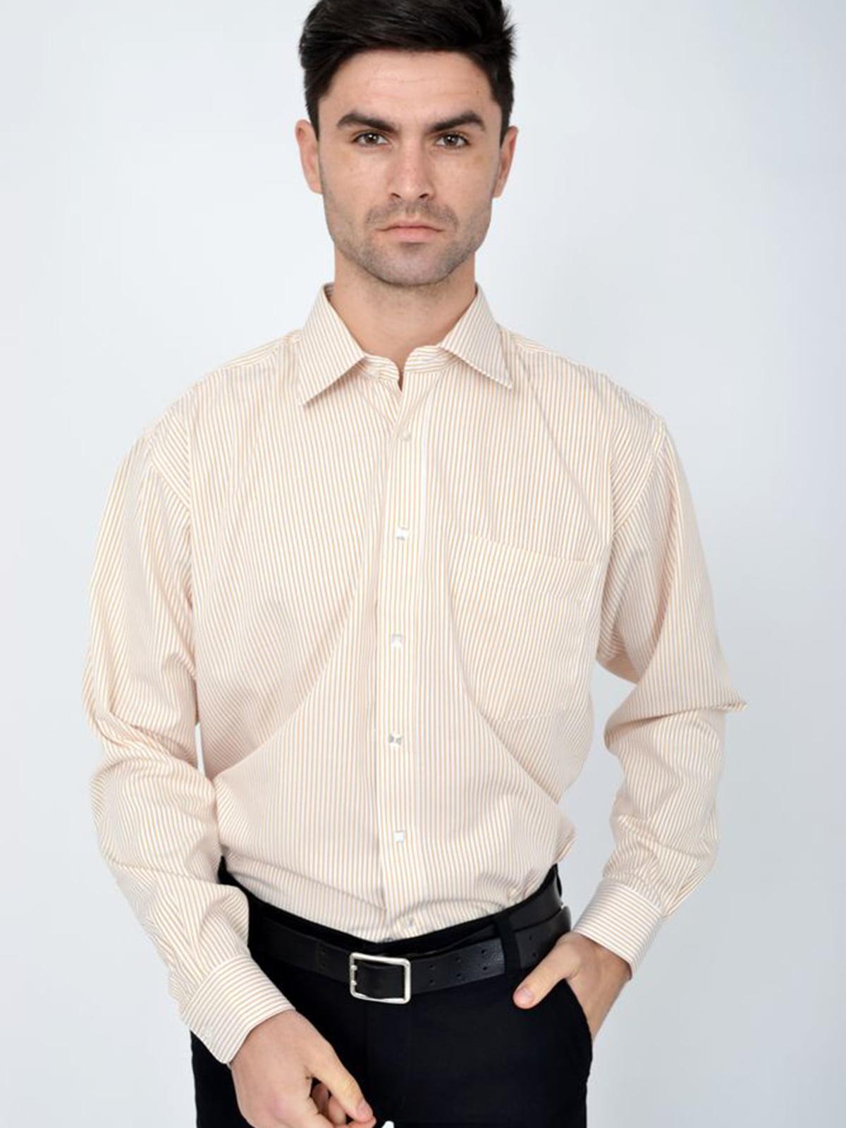 Рубашка молочно-коричневая | 5306331
