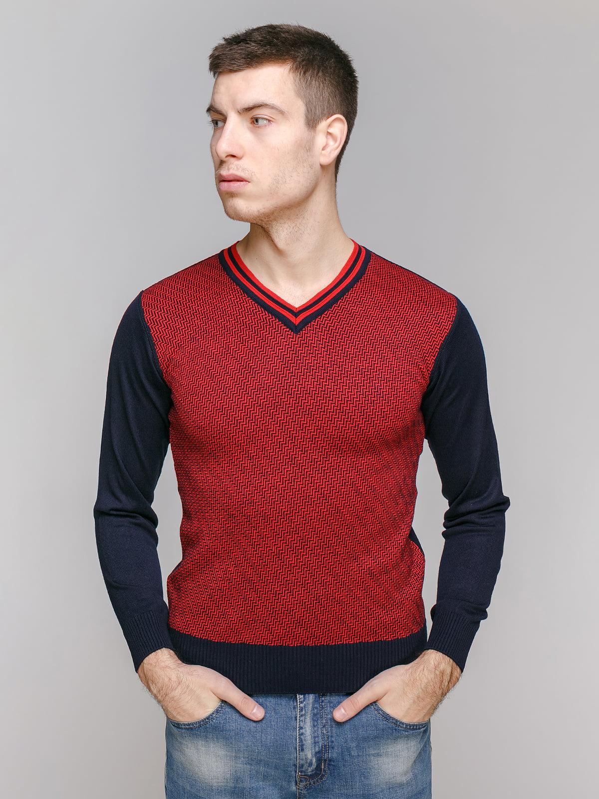 Джемпер синьо-червоний | 5313316