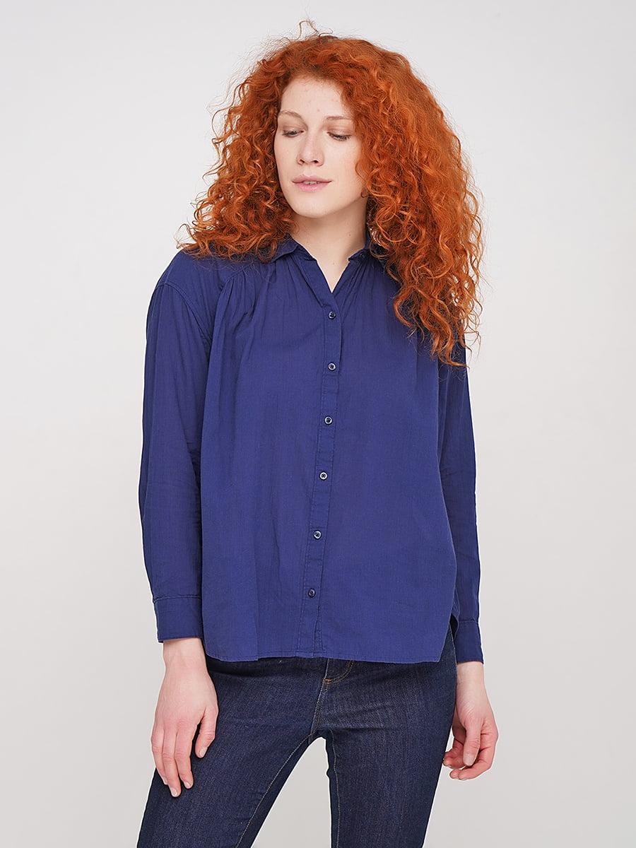 Блуза темно-синего цвета | 5316250