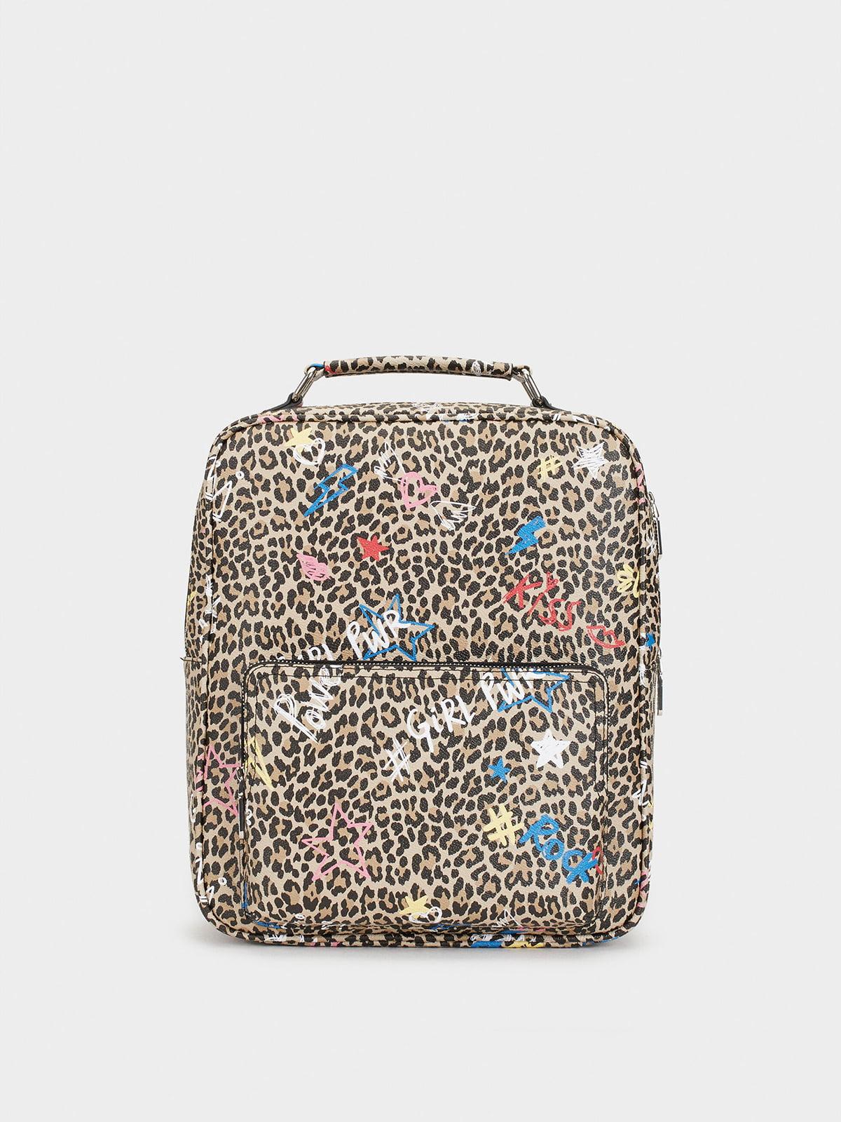 Рюкзак анімалістичного забарвлення з принтом | 5319960