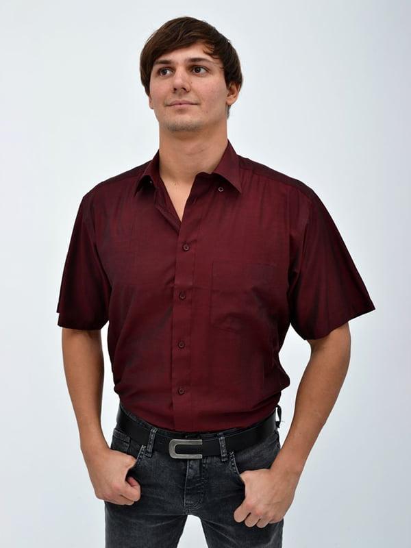 Рубашка цвета марсала | 5322410