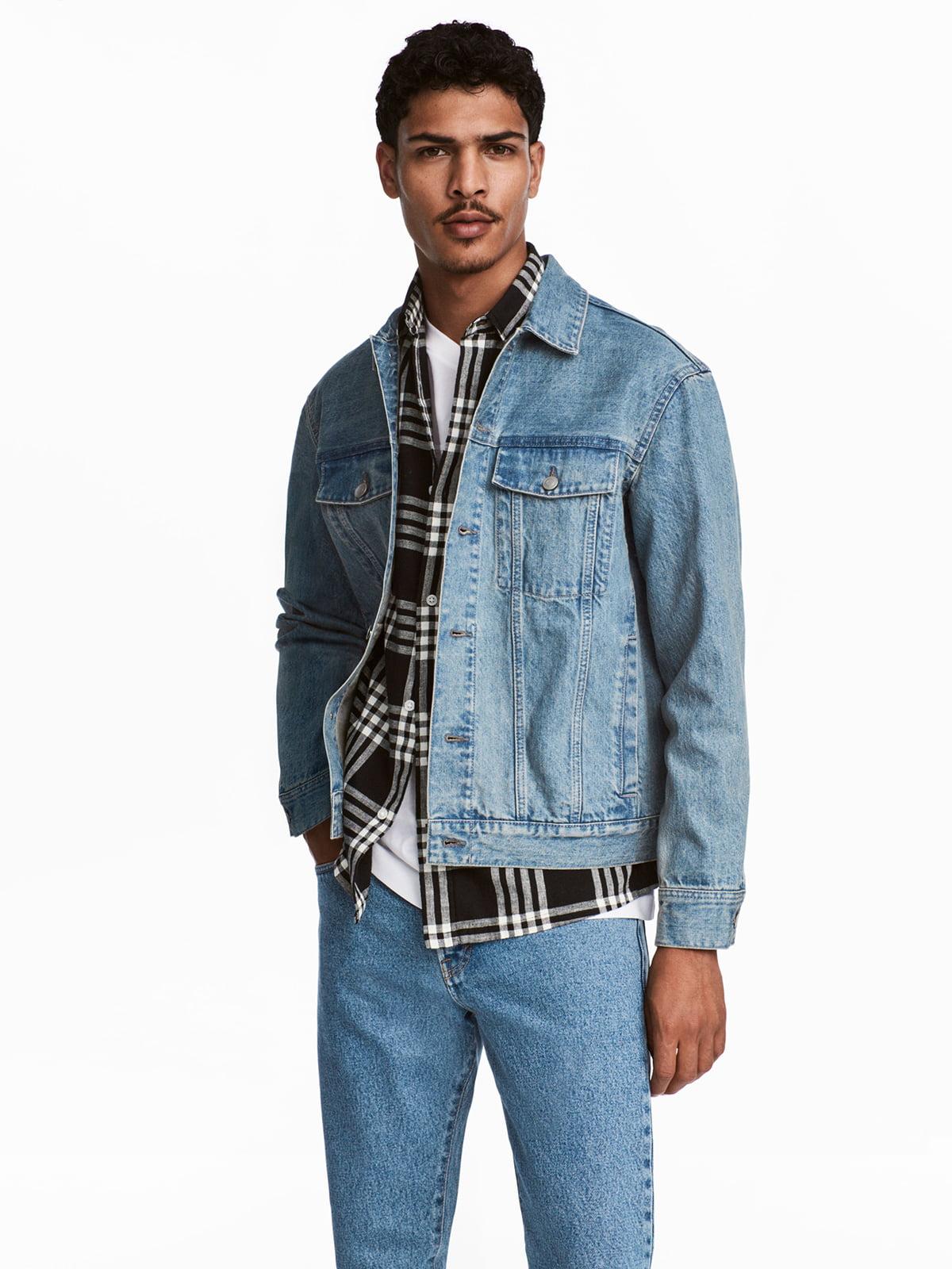Куртка голубая джинсовая | 5323844