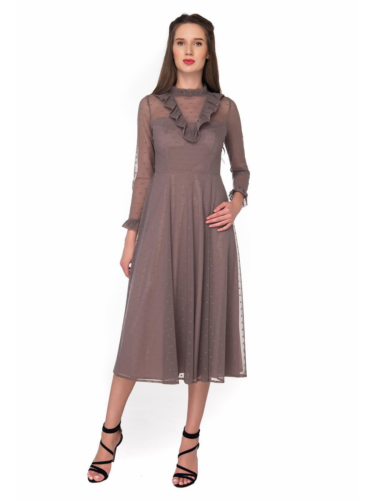 Платье серо-коричневое | 5324735