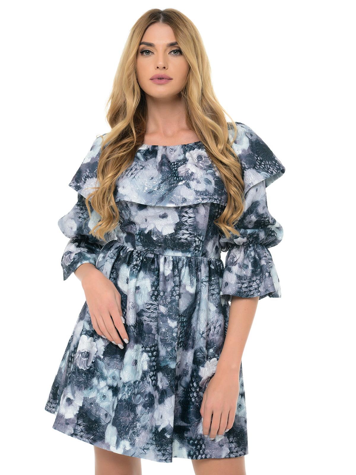Платье серое с принтом | 5324741