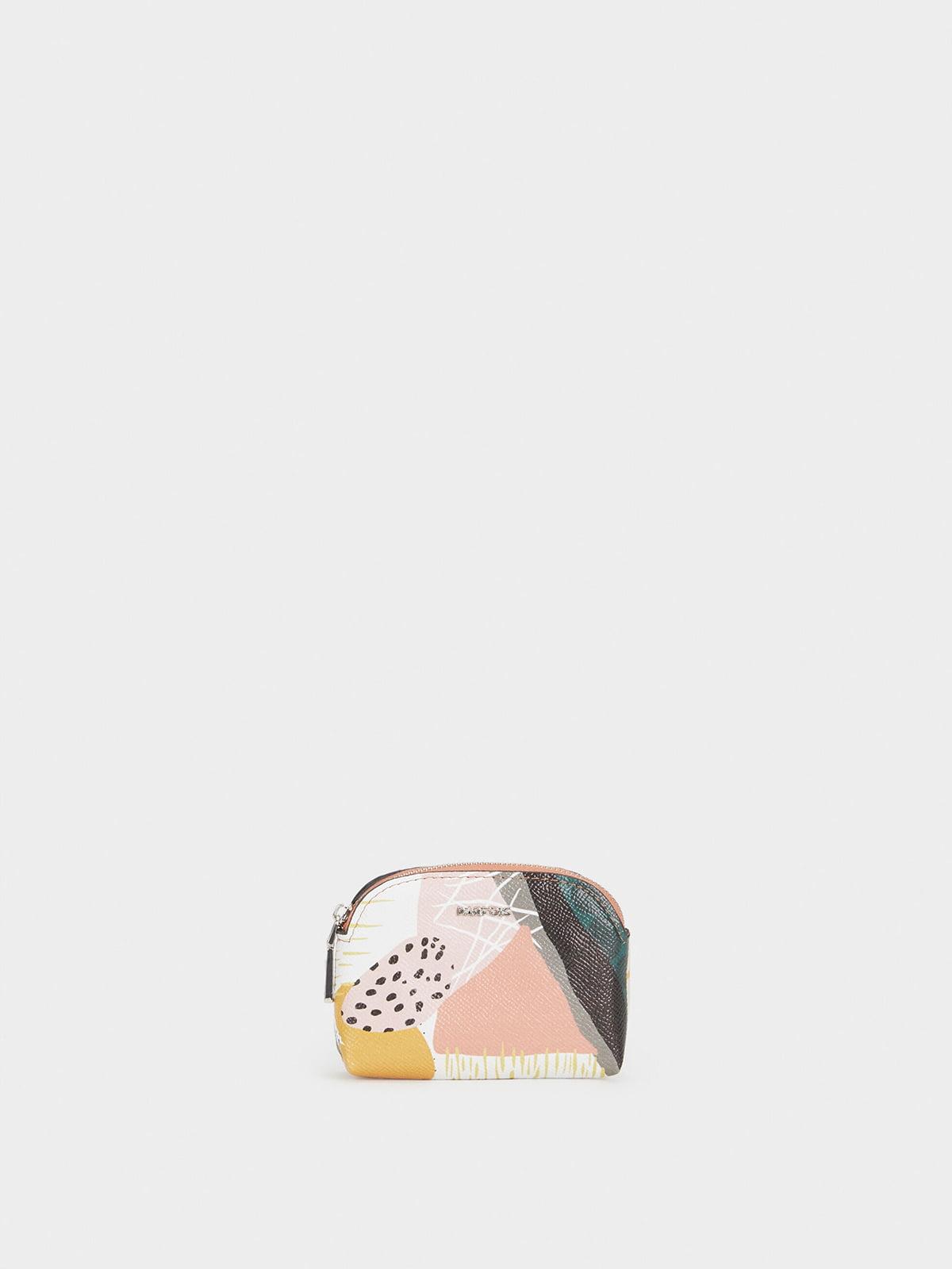 Гаманець рожевий в принт | 5325456
