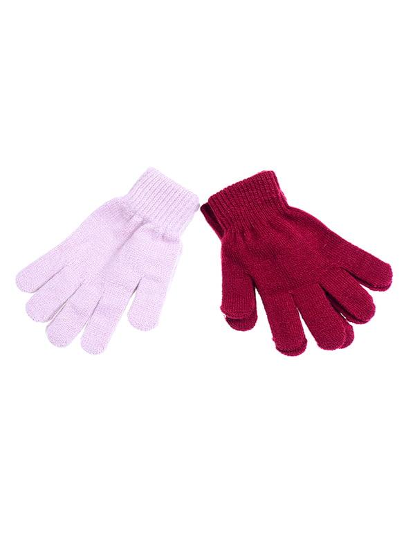 Перчатки бордовые | 5326502