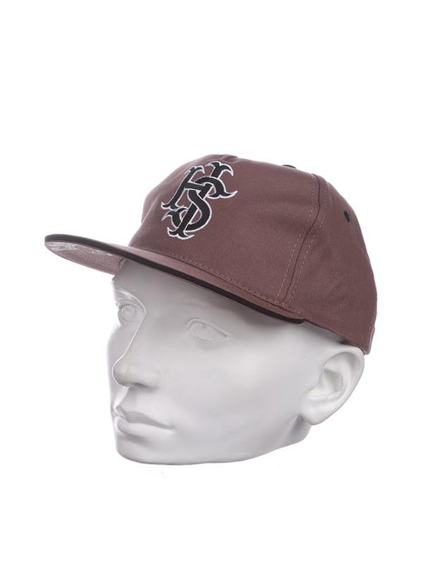 Бейсболка коричнева | 5326888
