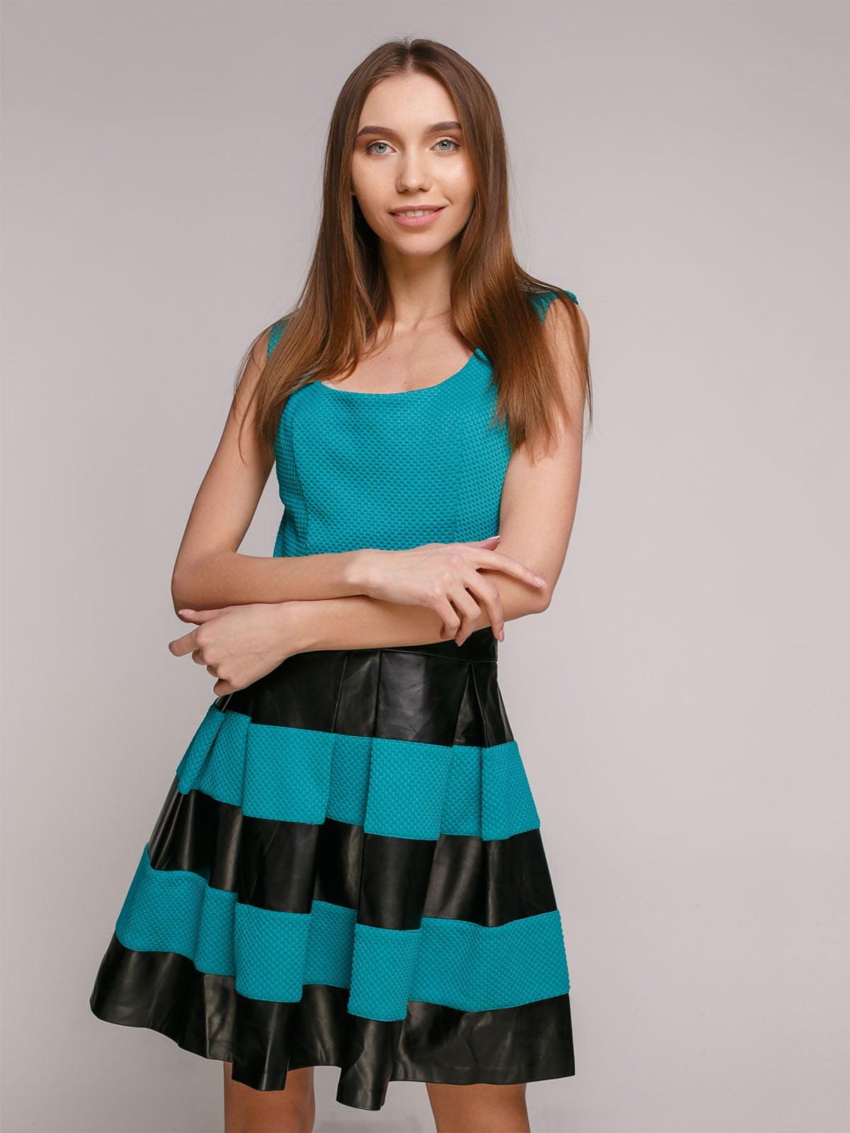 Сукня бирюзово-чорна | 4911103