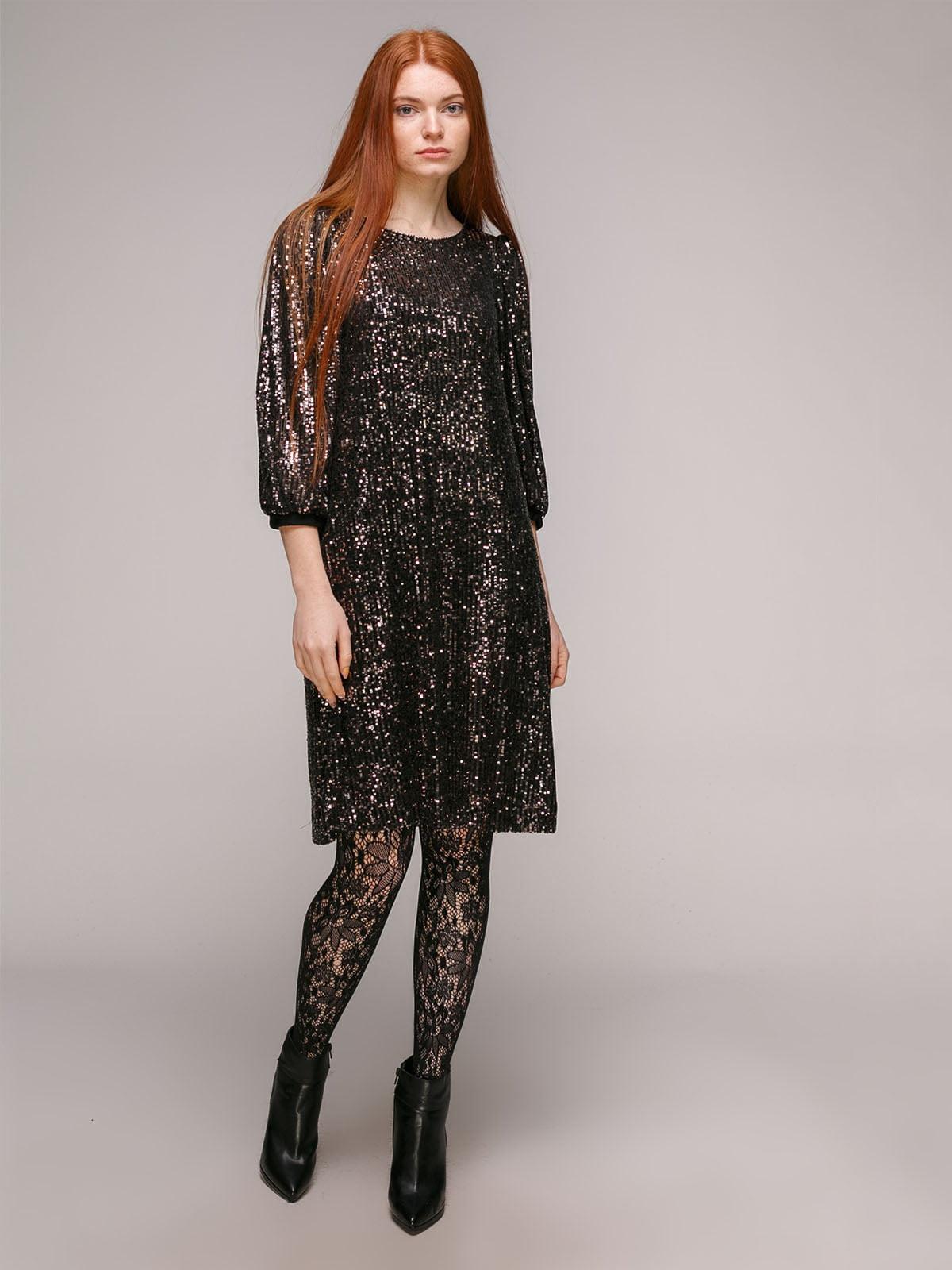 Сукня чорно-бронзова | 5294407