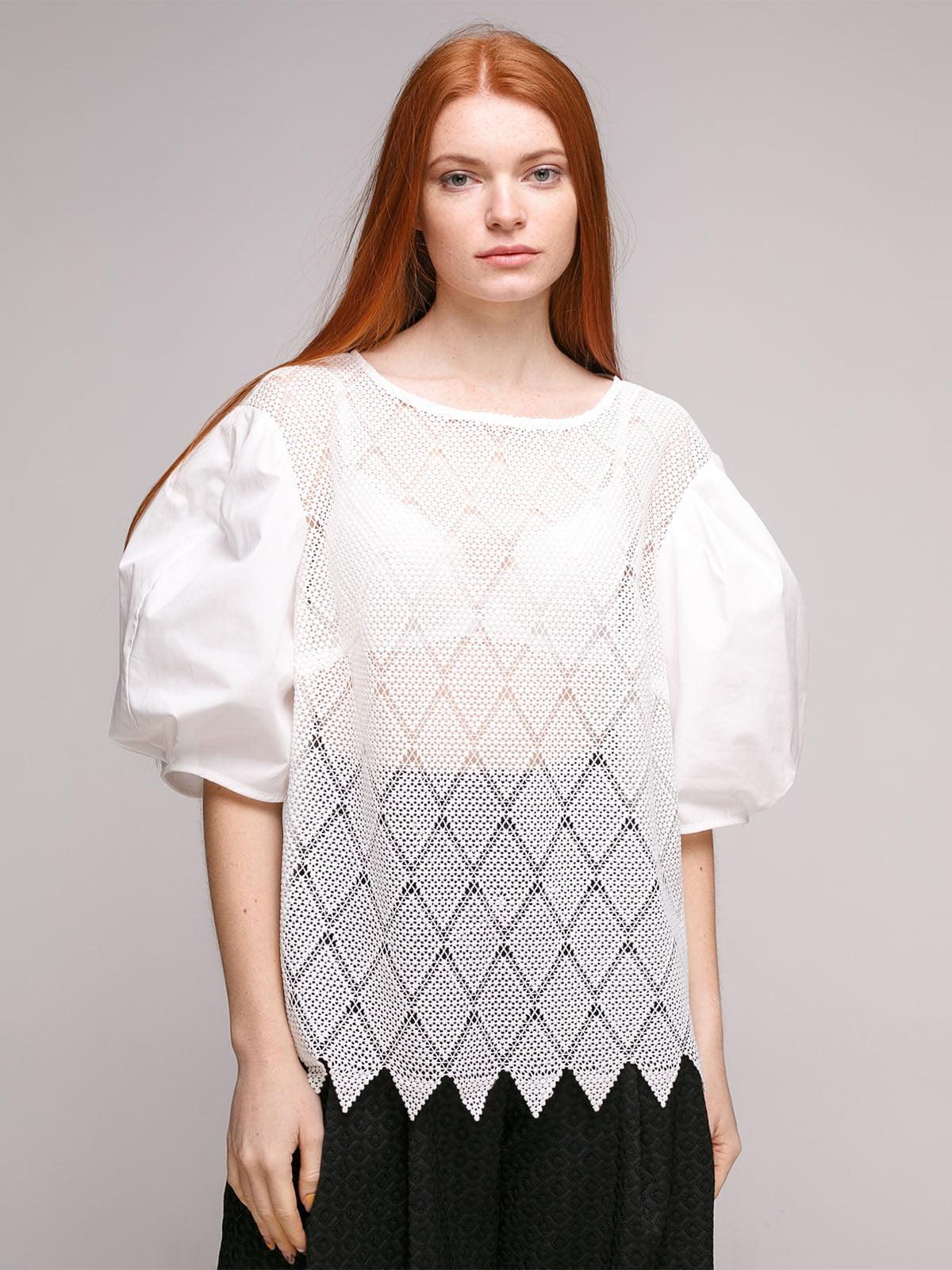 Блуза белая   5318954