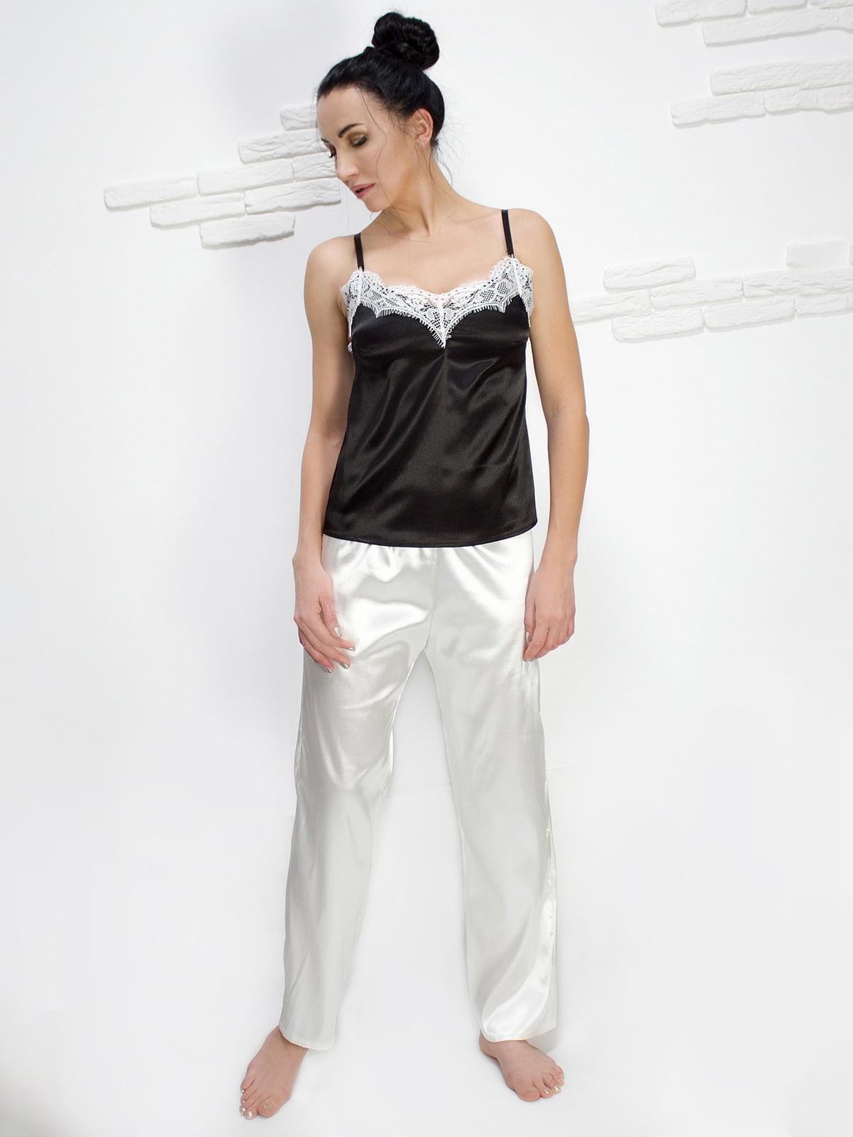 Штани ванільного кольору піжамні | 5303135
