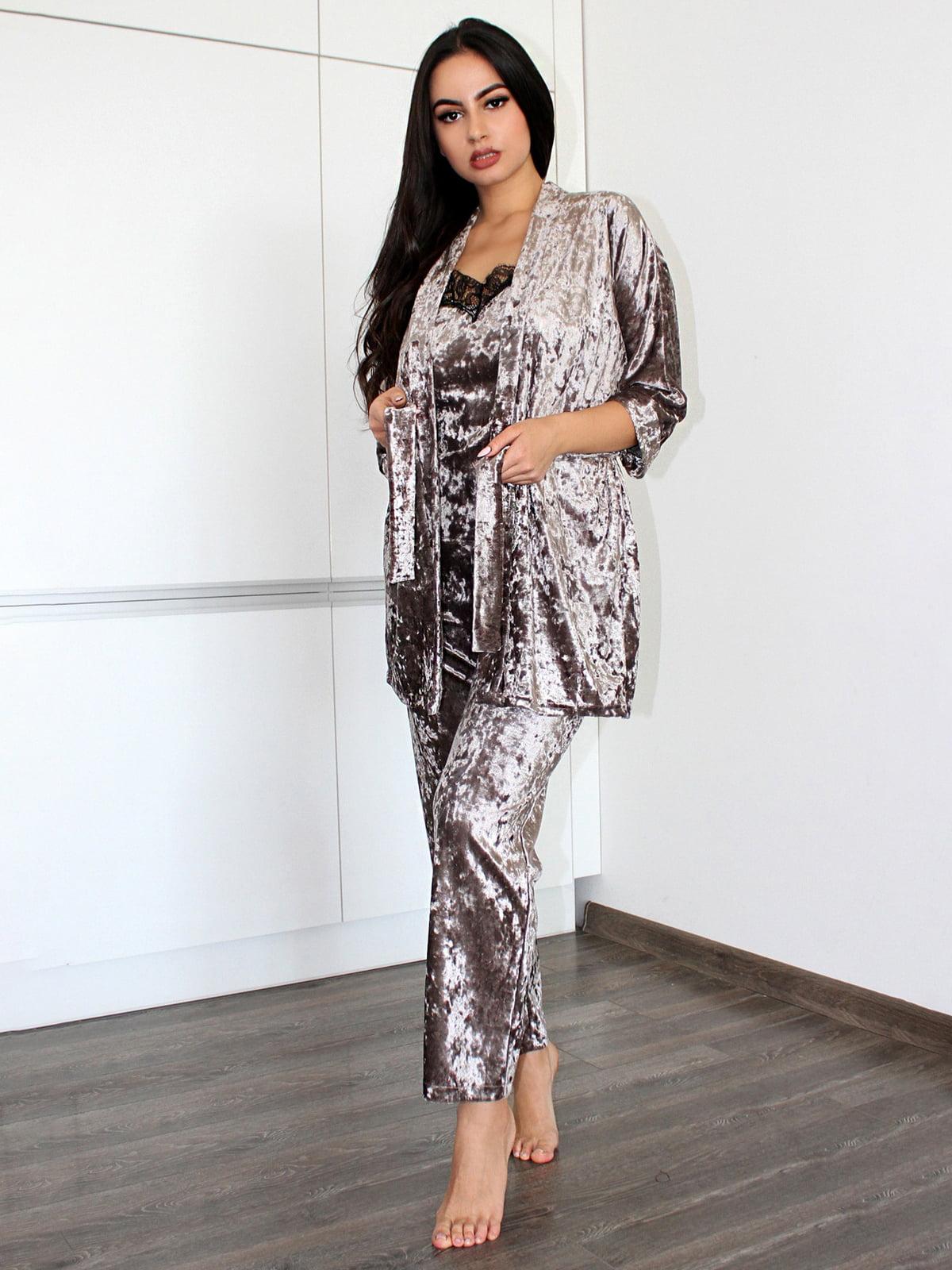 Комплект: майка, халат і штани   5303196