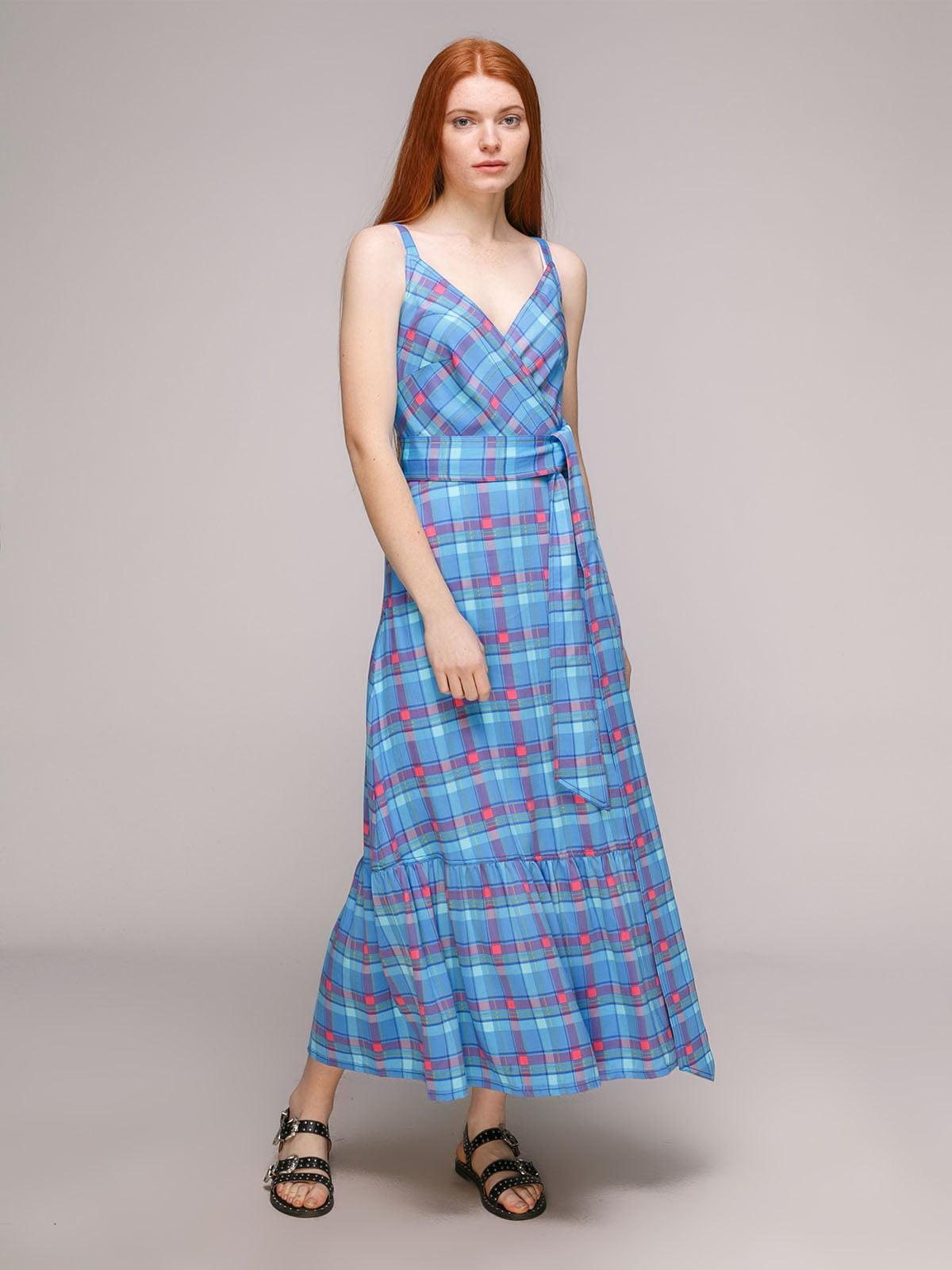 Платье розово-голубое | 5318970