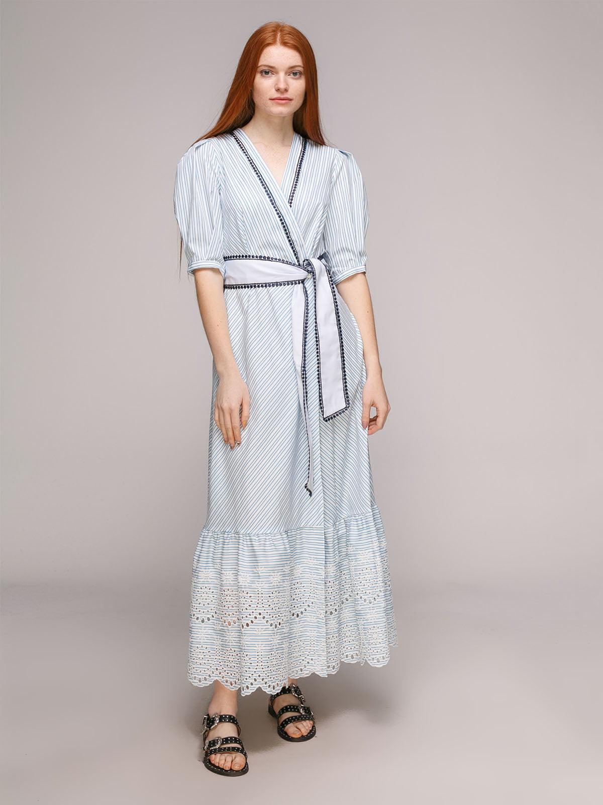 Сукня біло-блакитна   5318975