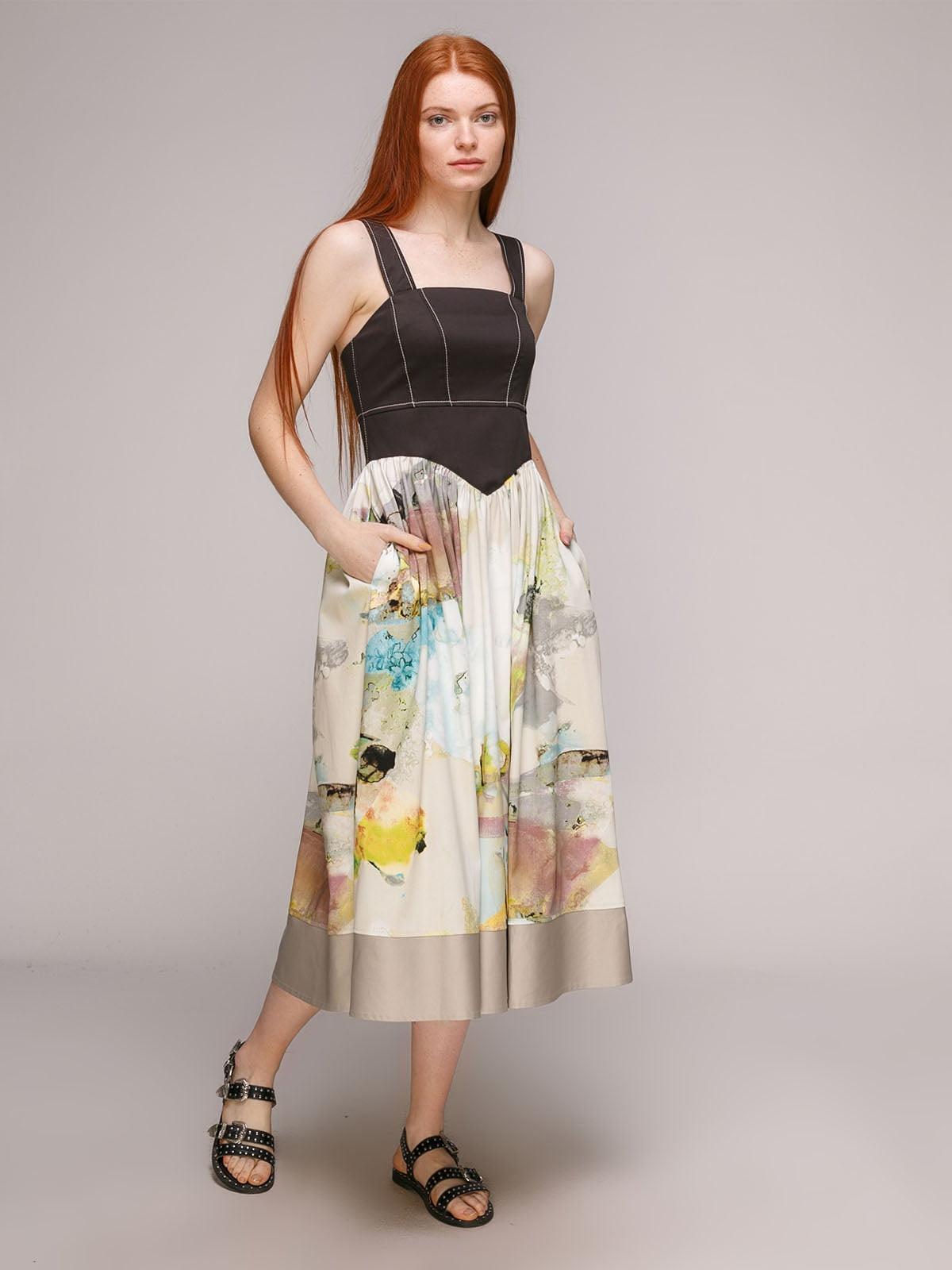 Сукня бірюзово-чорна | 5318963