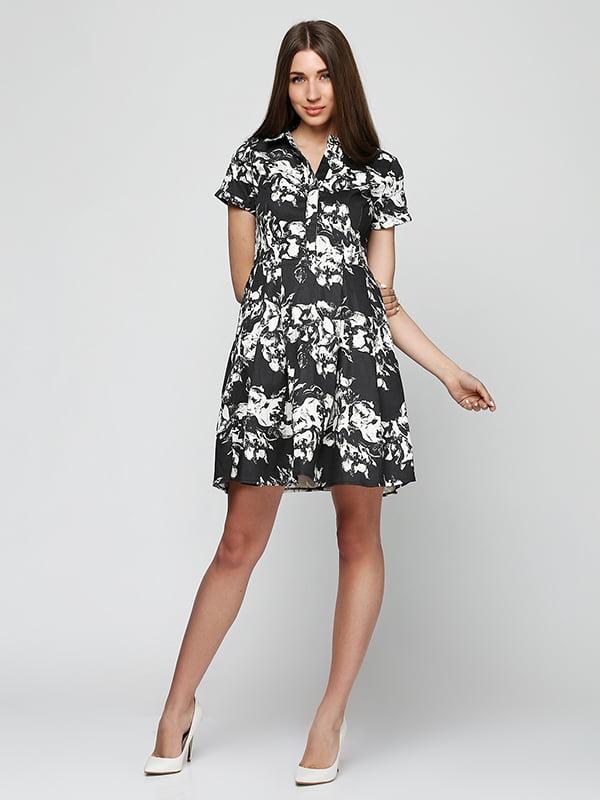 Платье черное в принт | 5325905