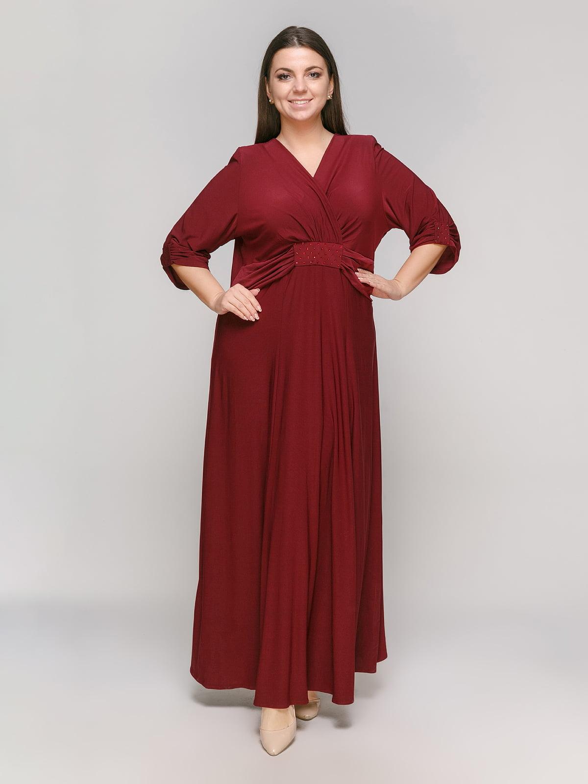 Платье бордовое | 5317000