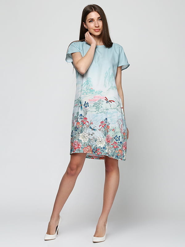 Платье бирюзовое | 5326621
