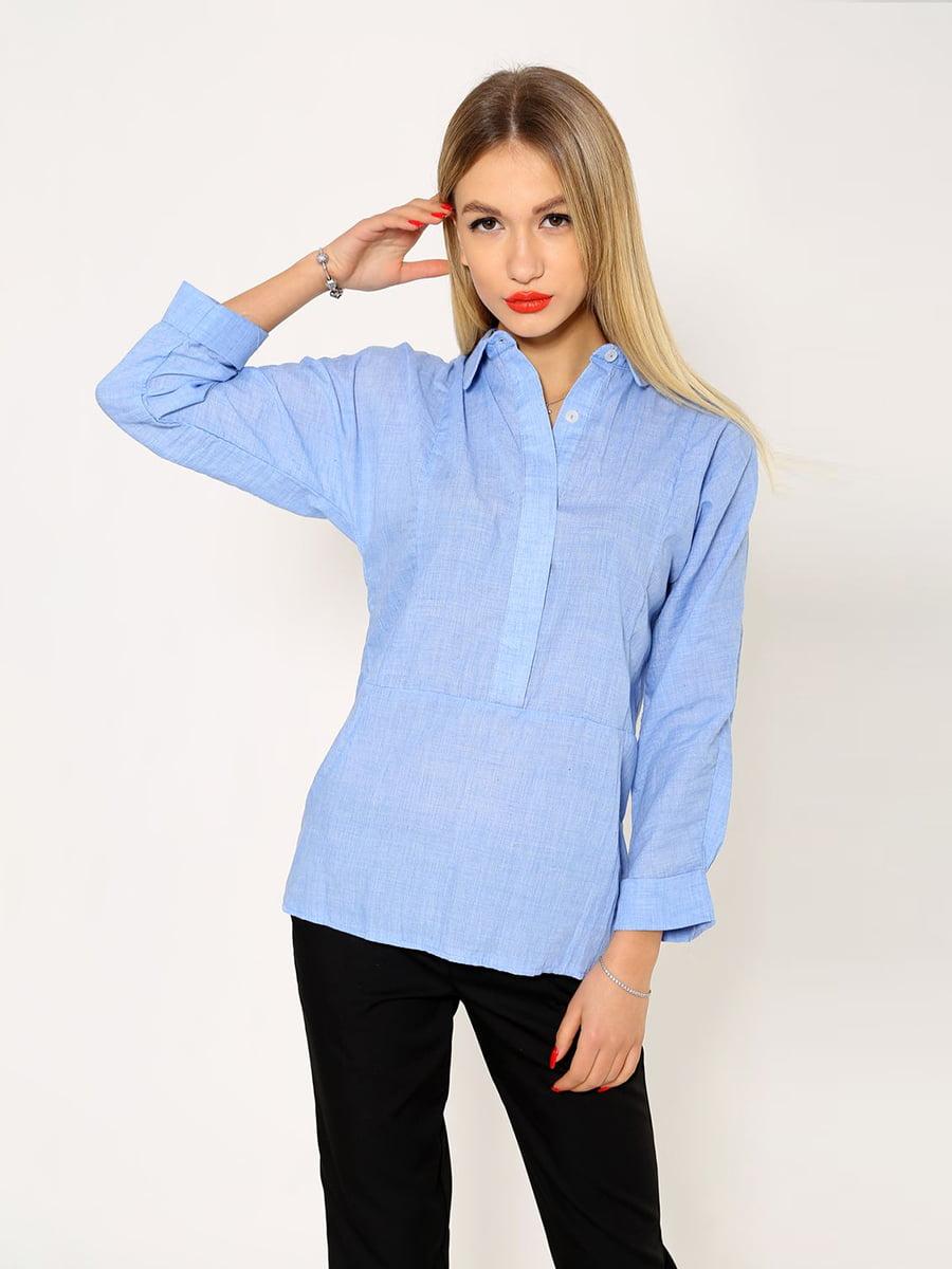 Рубашка светло-синяя | 5337698