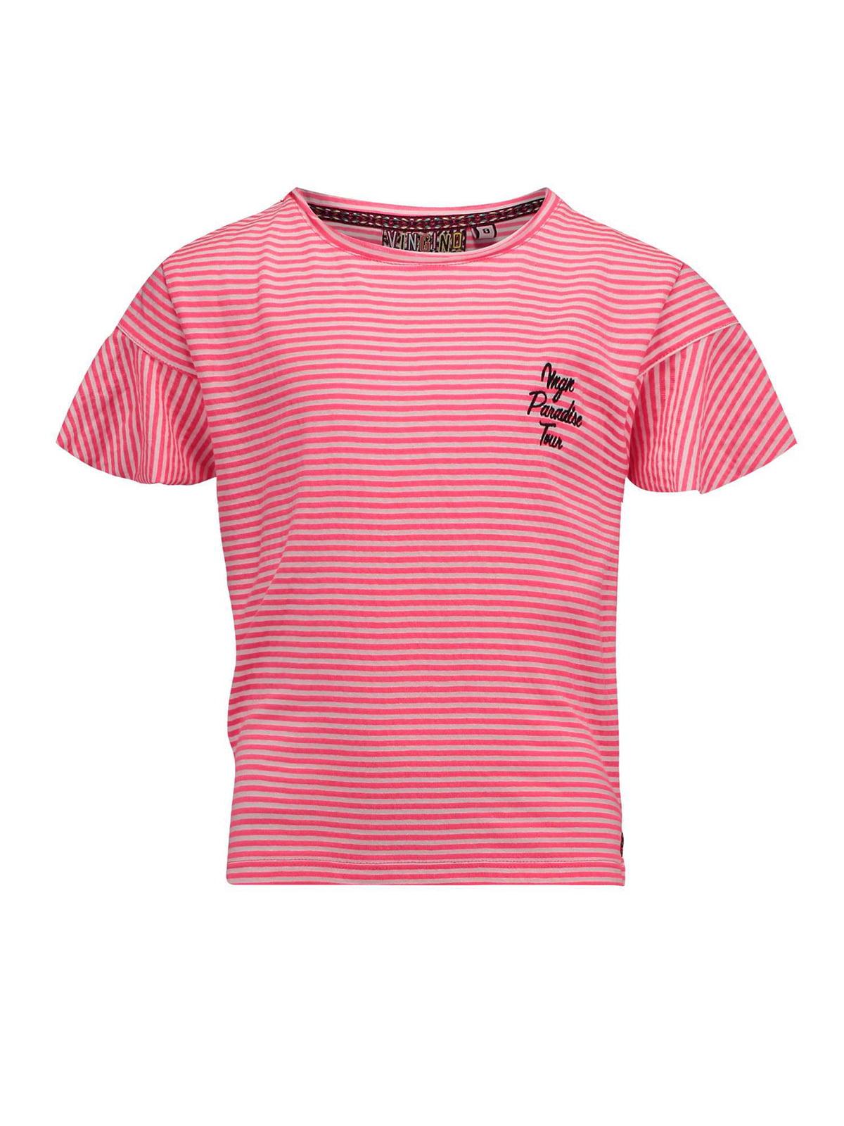 Футболка біло-рожева | 5340891