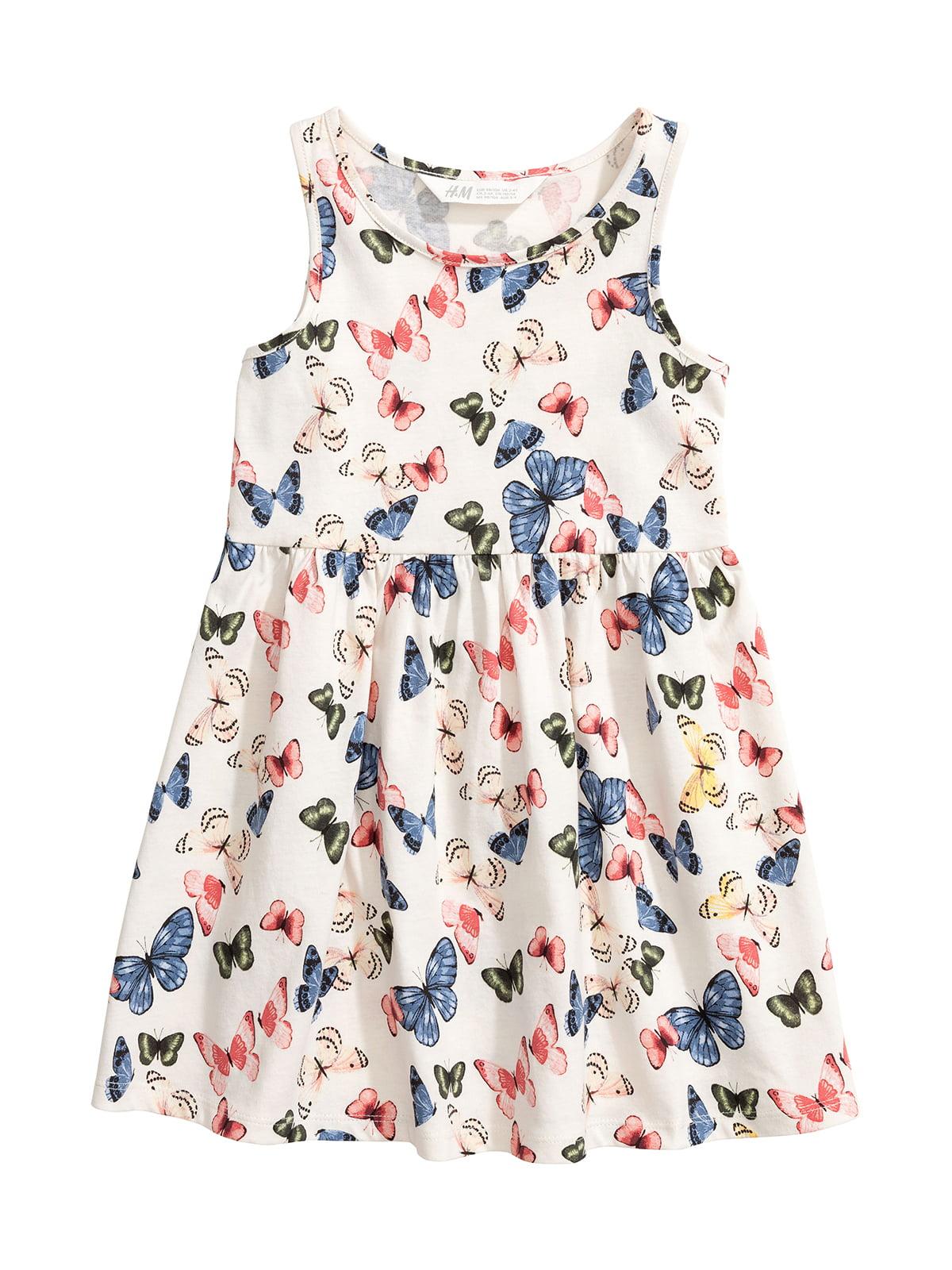 Сукня молочного кольору з принтом | 5340929