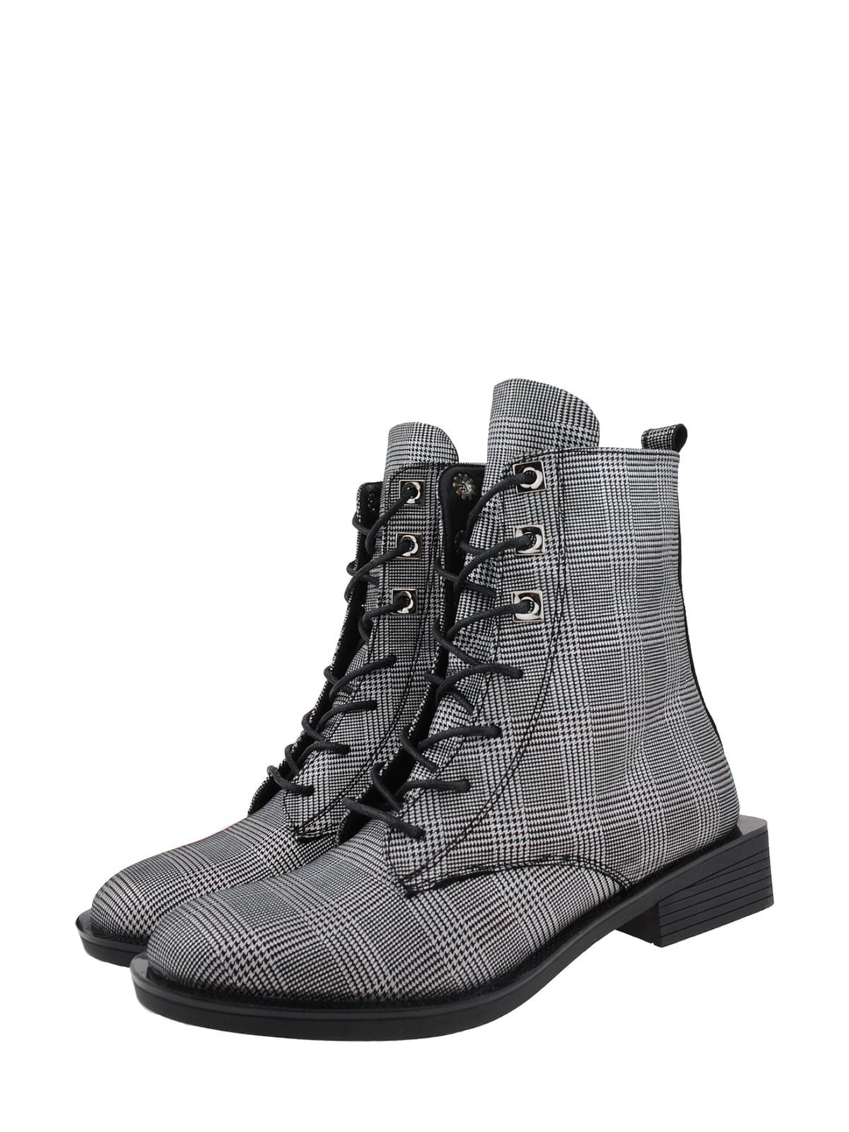 Черевики сіро-чорні   5341281