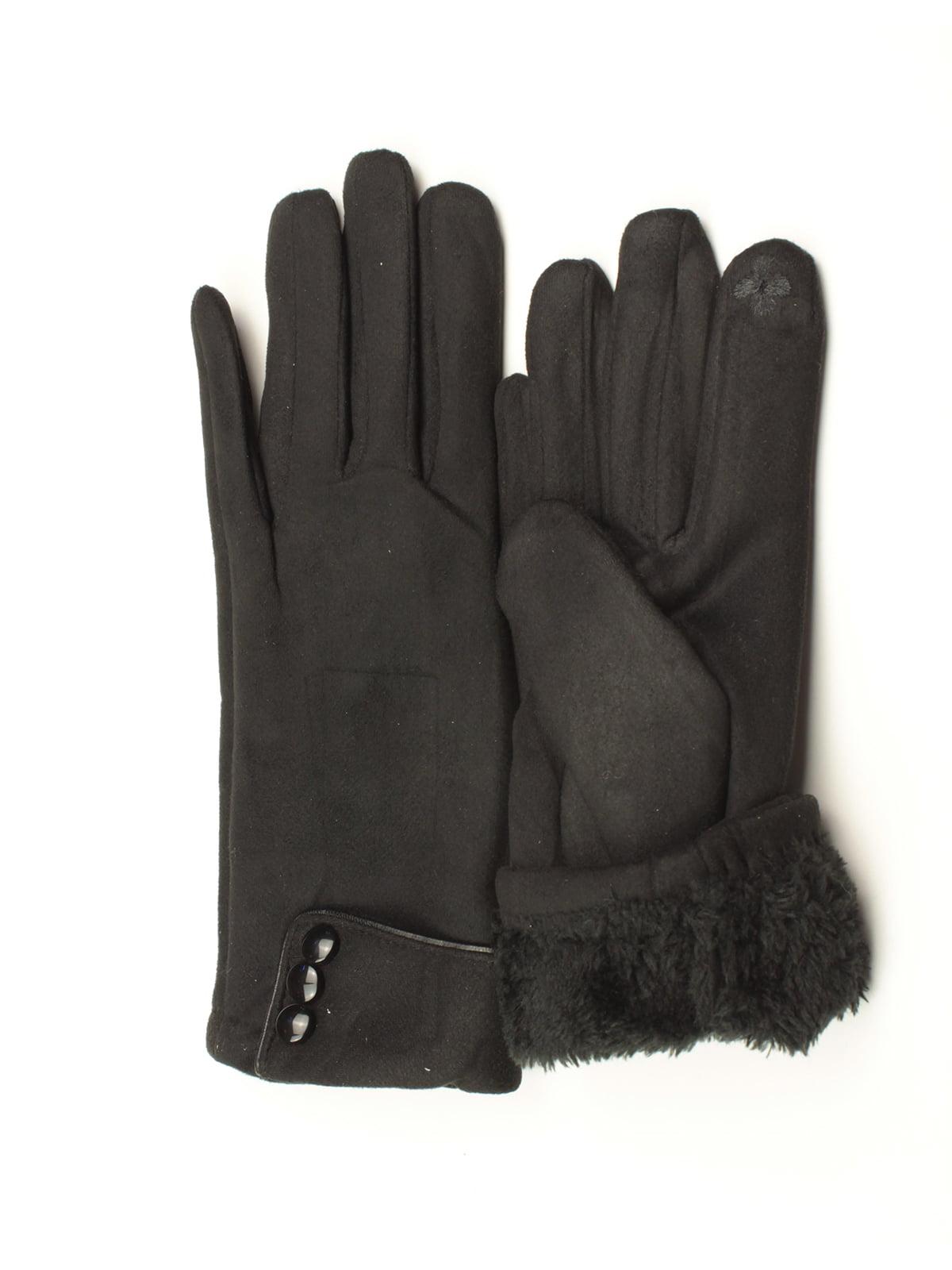 Перчатки для сенсорных экранов черные   5343389