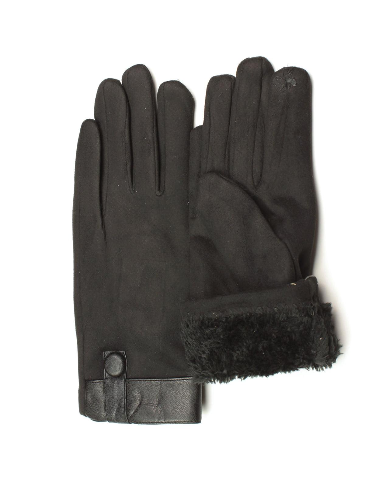 Перчатки для сенсорных экранов черные | 5343392