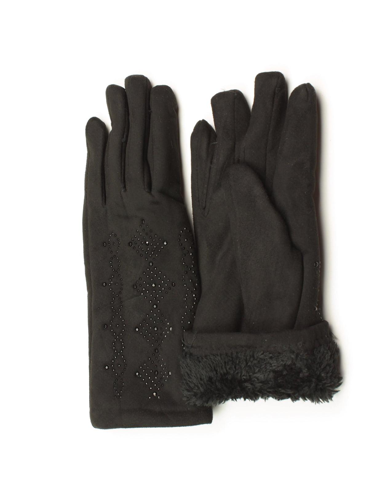 Перчатки черные утепленные | 5343417