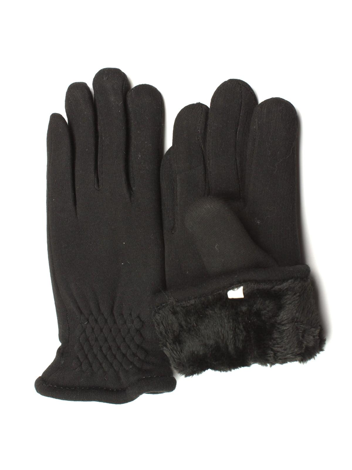 Перчатки черные утепленные | 5343420