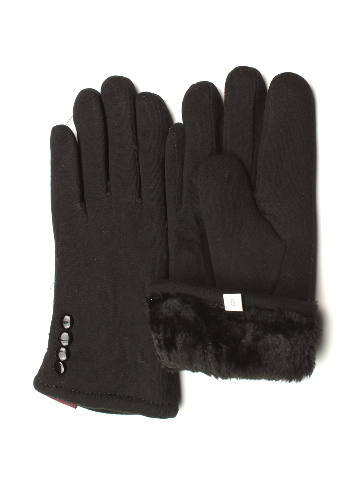 Перчатки черные утепленные   5343421