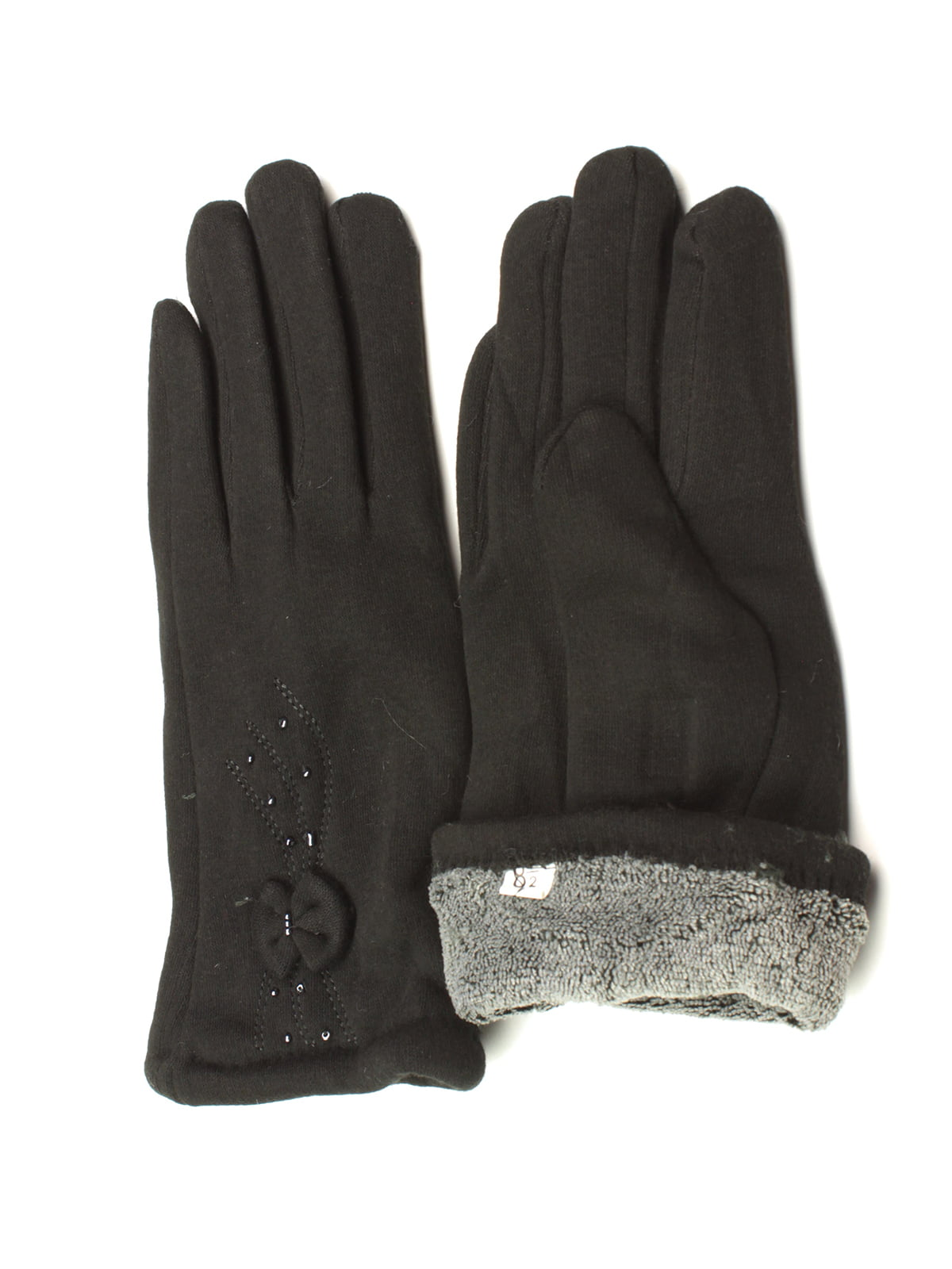 Перчатки черные утепленные | 5343423