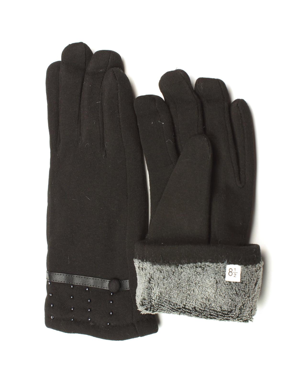 Перчатки черные утепленные | 5343424