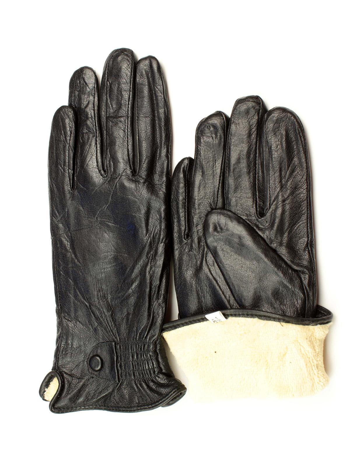 Рукавички чорні утеплені | 5343440