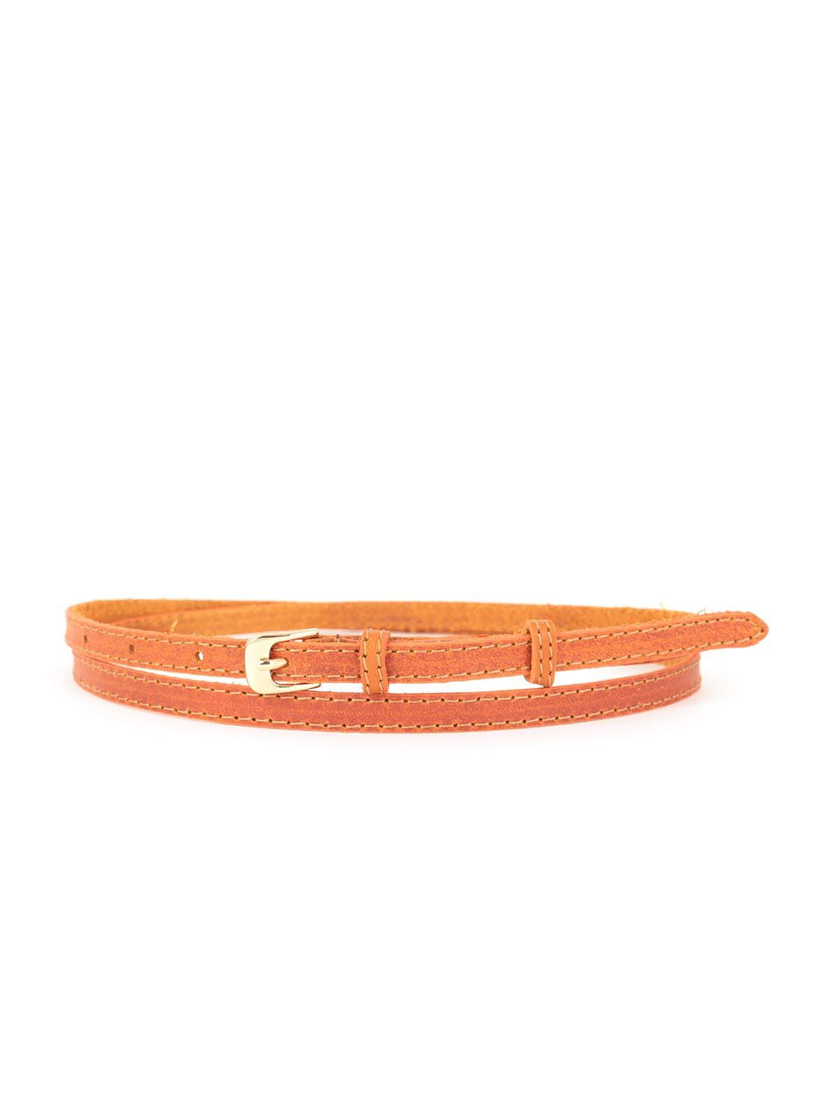 Ремень морковного цвета | 5344116