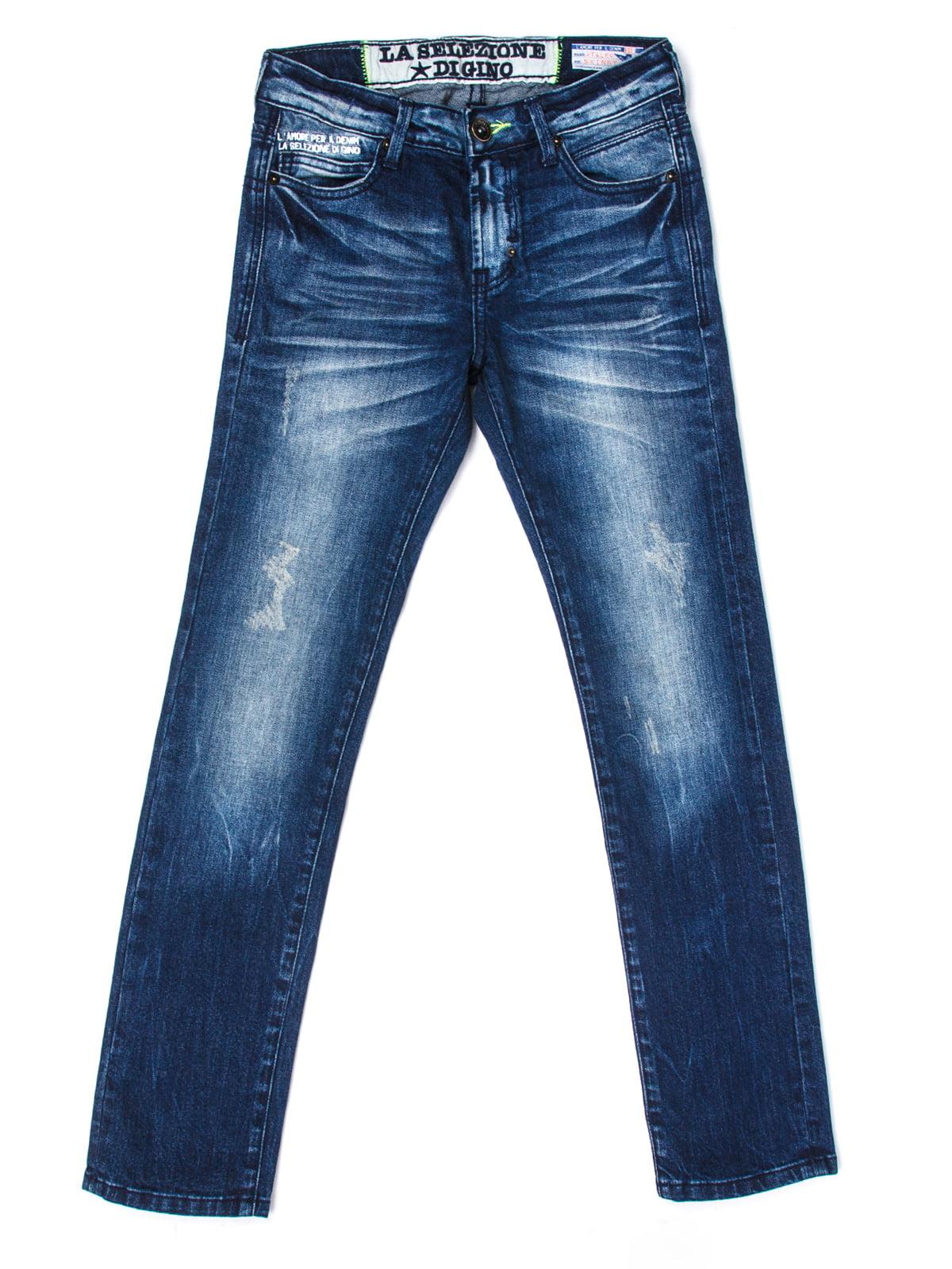 Джинси темно-синього кольору | 5339618