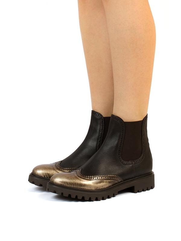 Черевики коричнево-чорні | 5345819