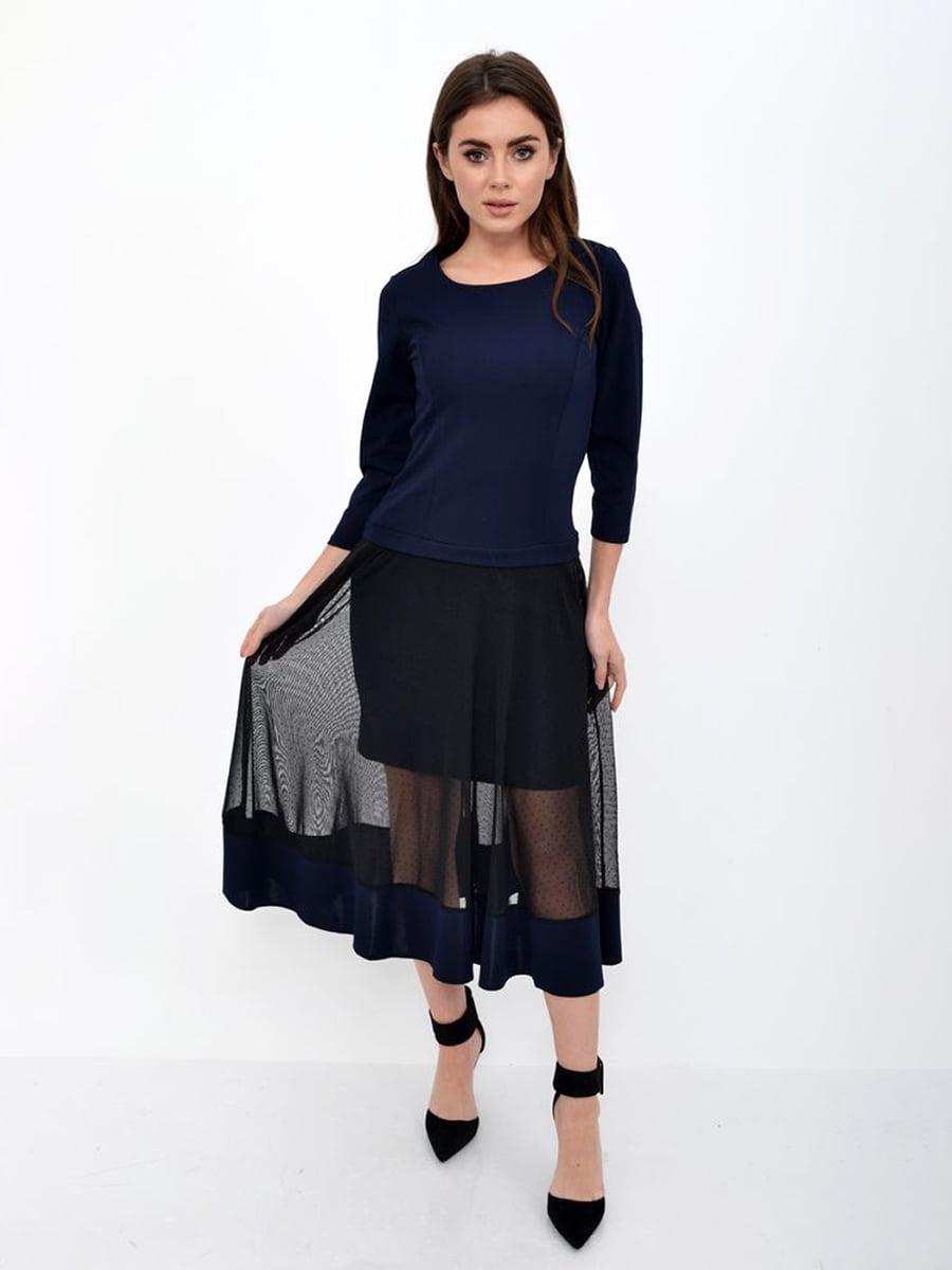 Платье темно-синее | 5306319
