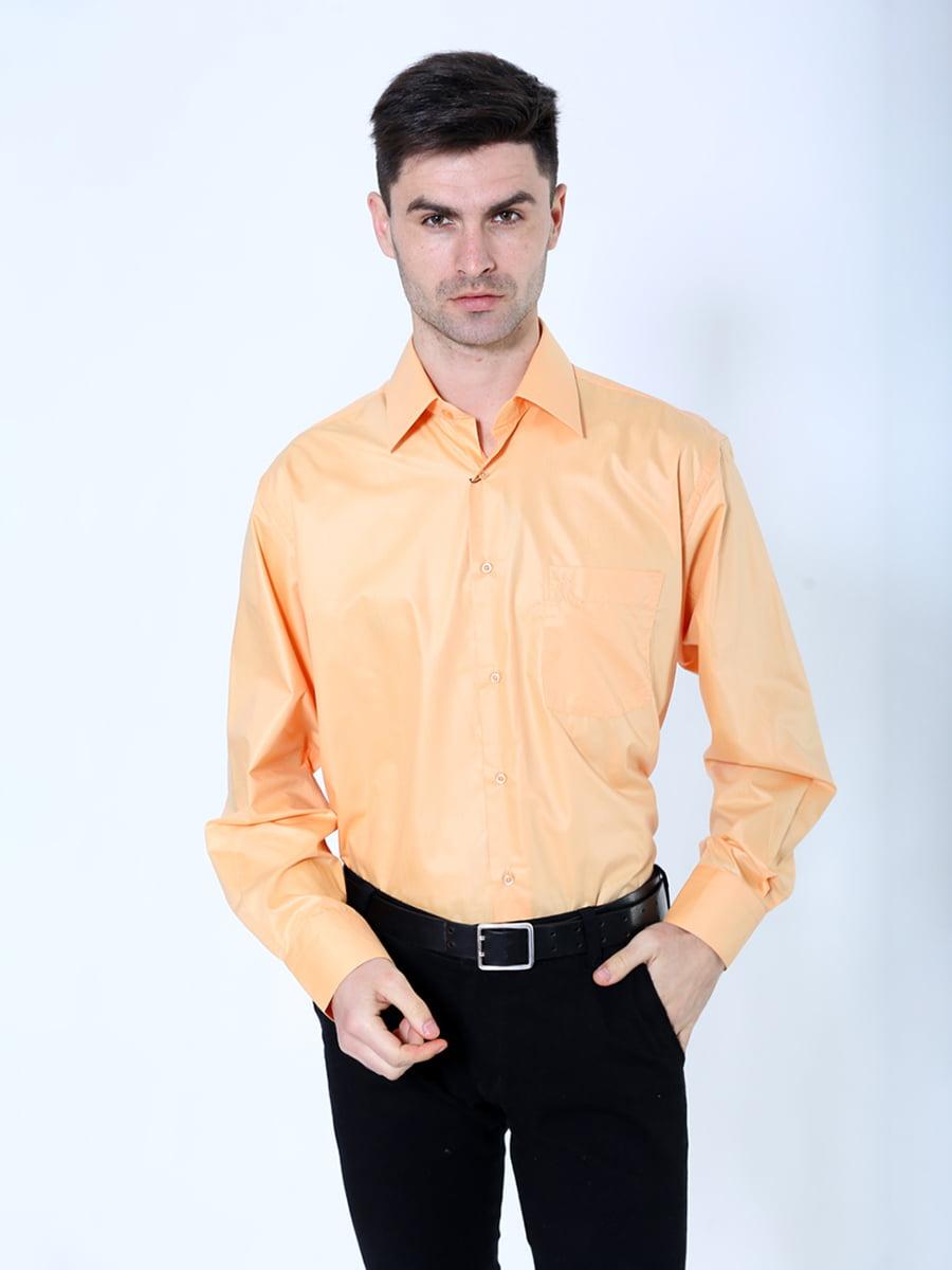 Рубашка оранжево-коричневая   5306348