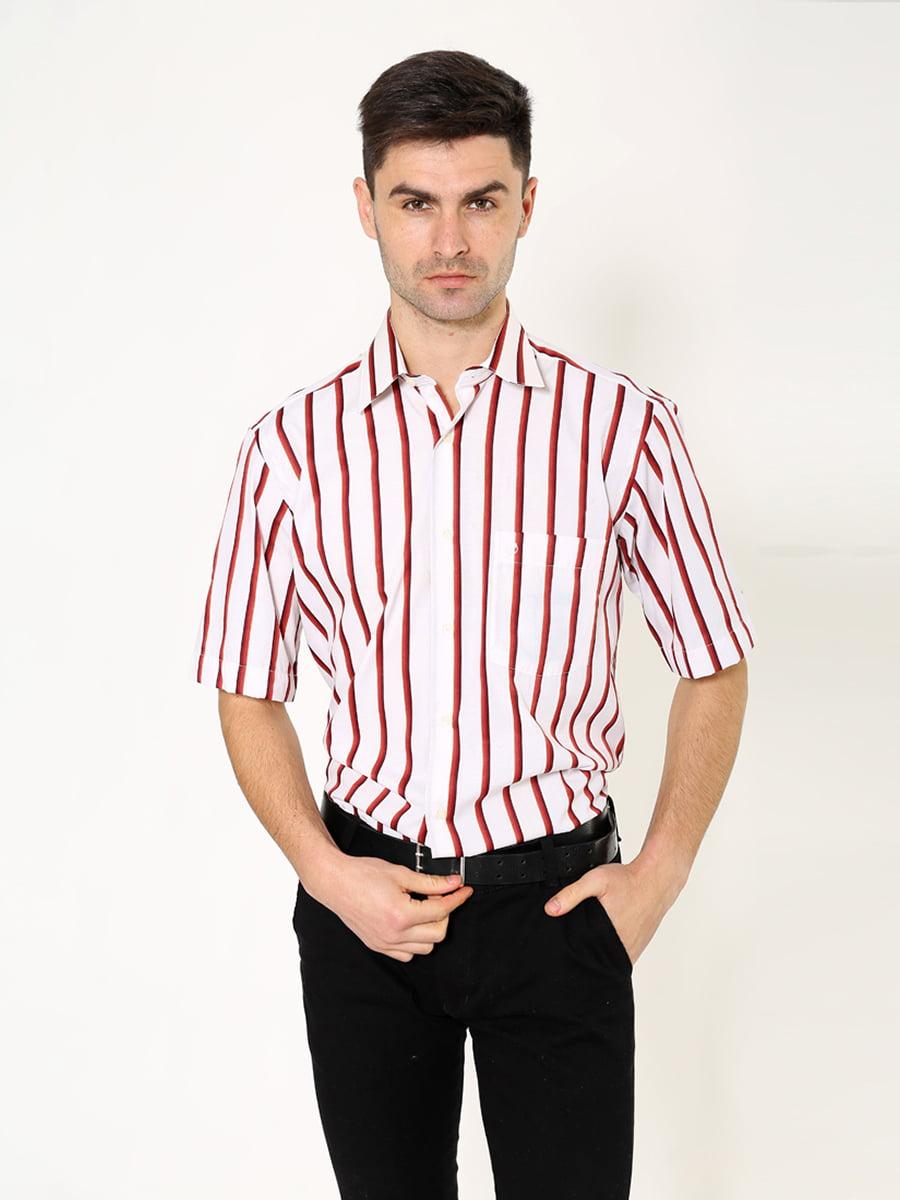 Рубашка бело-коричневая   5306380