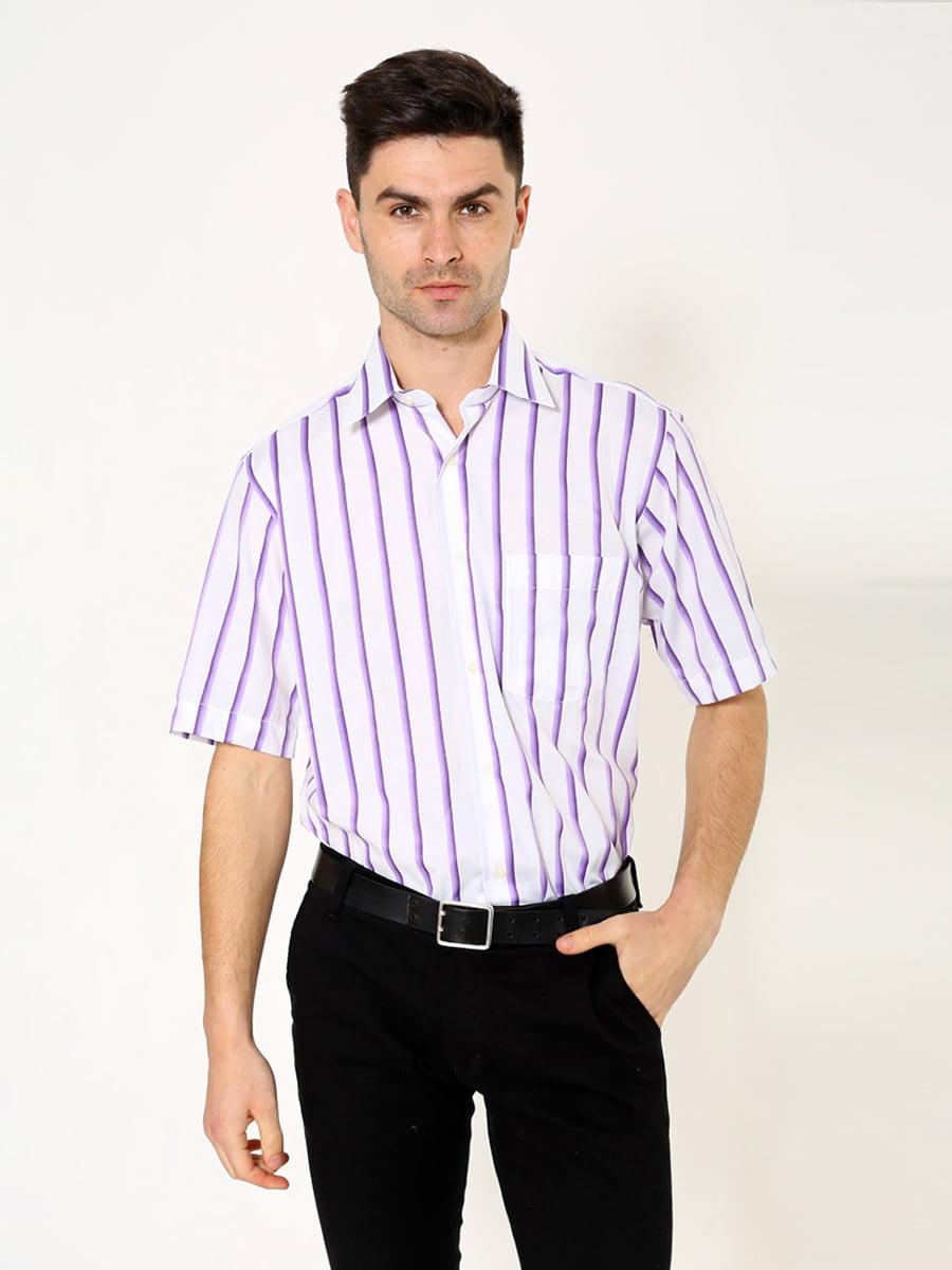 Рубашка бело-сиреневая   5306381