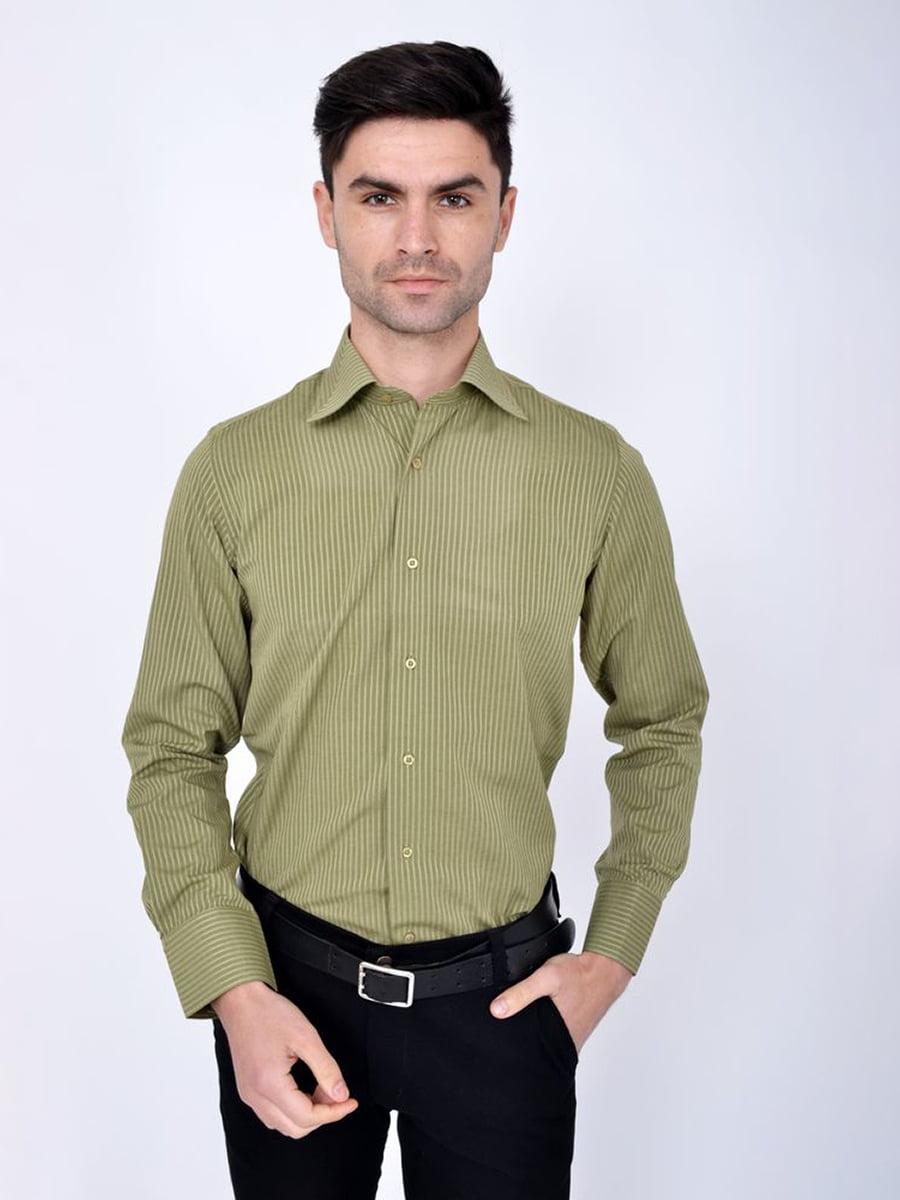 Рубашка оливкового цвета | 5306384