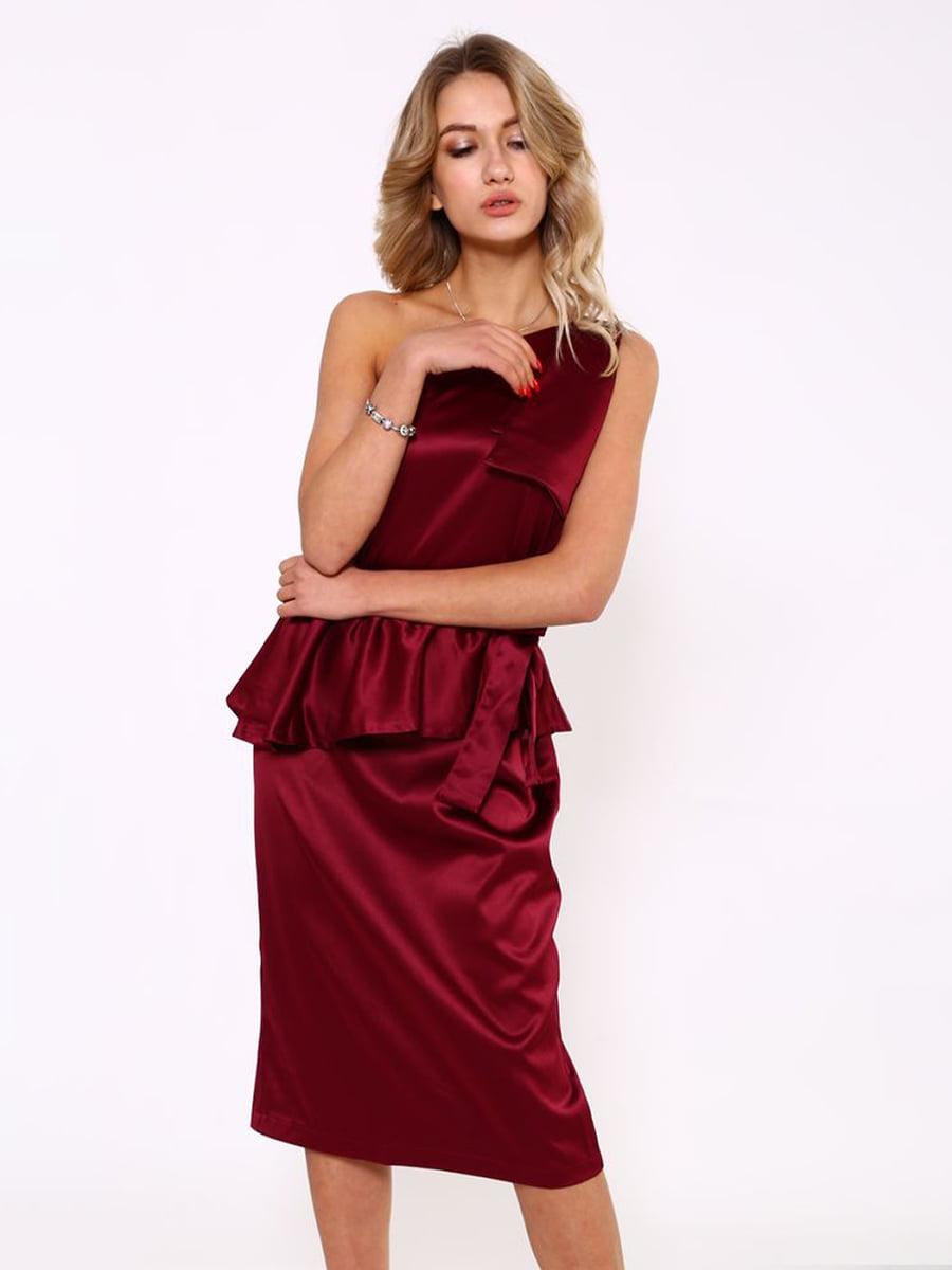 Платье бордовое | 5349131
