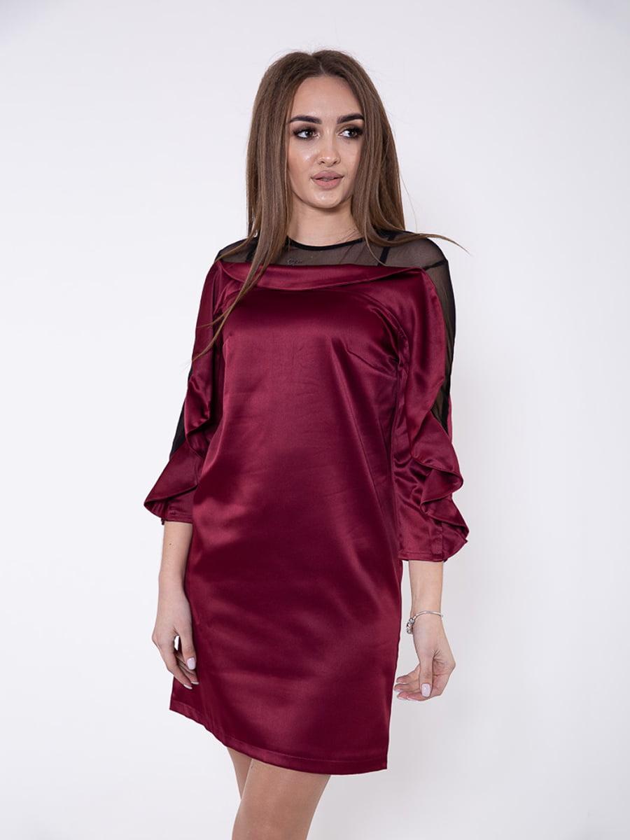 Платье бордовое | 5349132