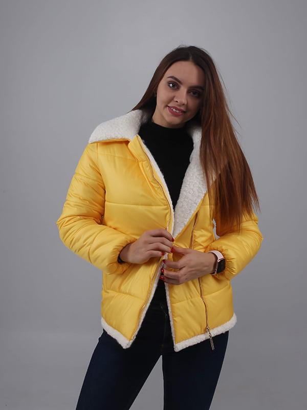 Куртка лимонного цвета   5349532