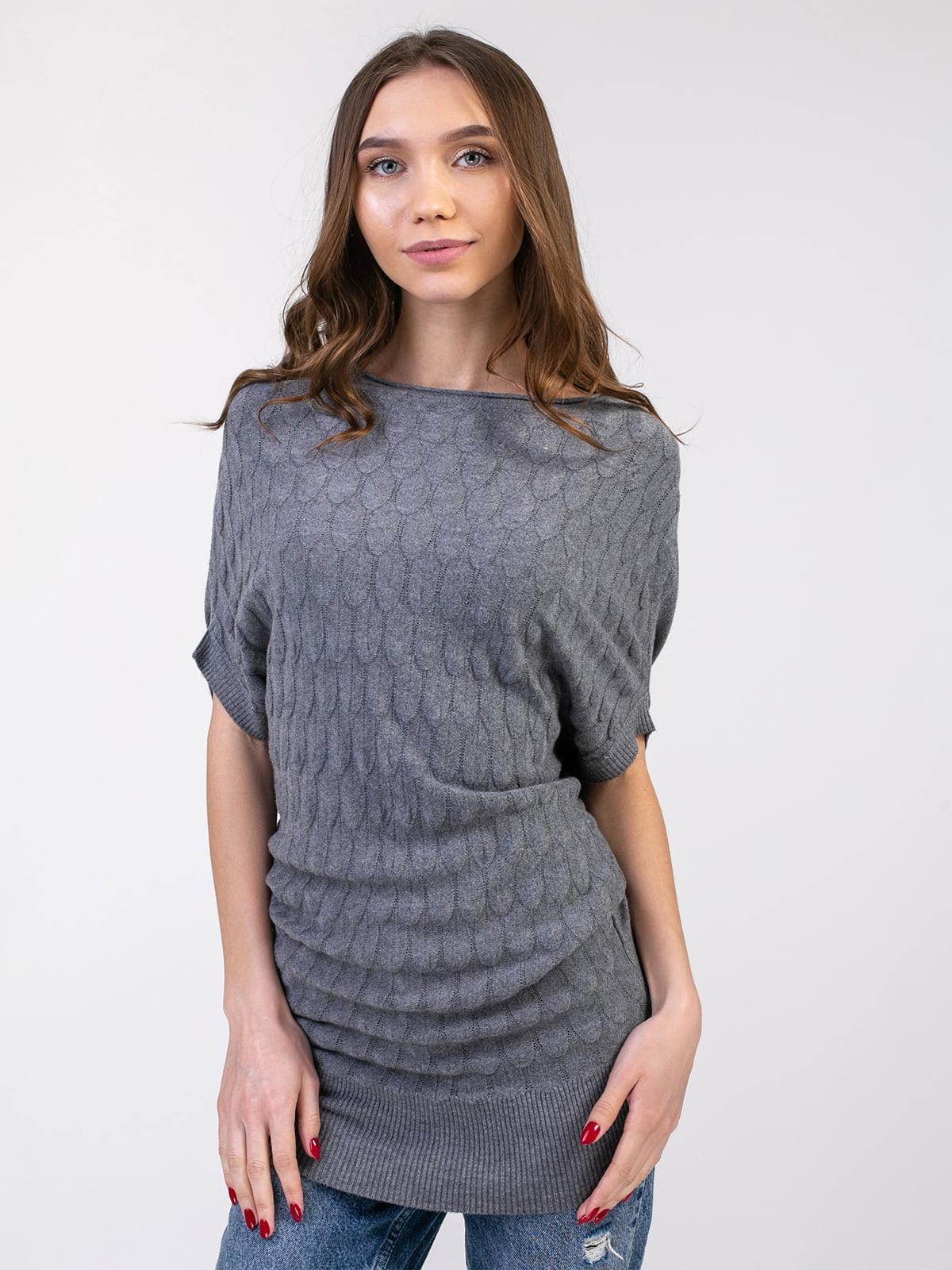 Платье-туника серое | 5350758