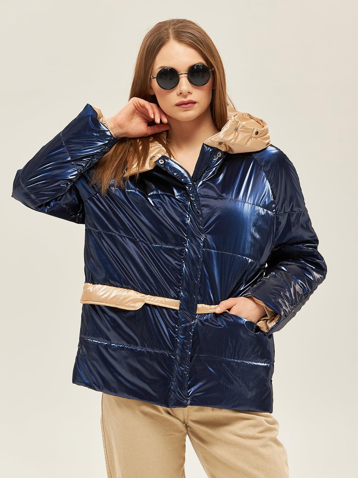 Куртка сине-бежевого цвета | 5352369