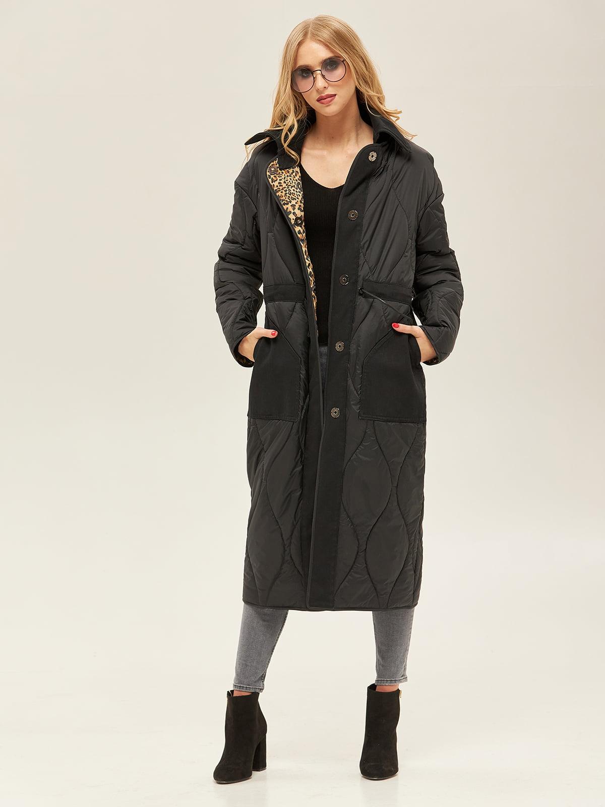 Пальто черно-леопардового цвета | 5352386