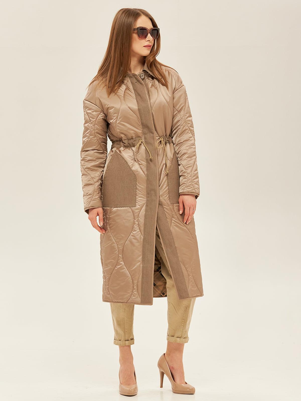 Пальто цвета капучино   5352387