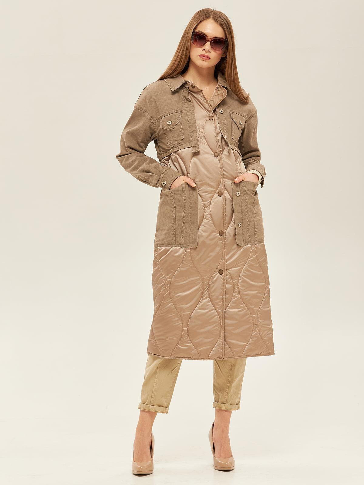 Пальто цвета капучино   5352393